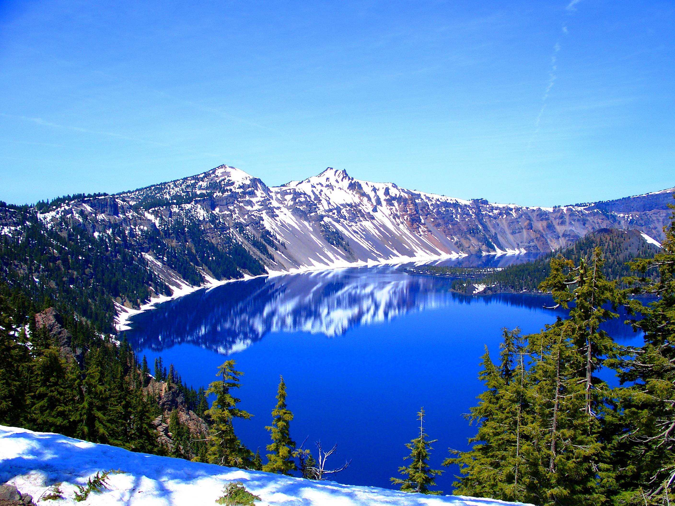 Crater lake wallpapers wallpaper cave for Most beautiful places in america nature