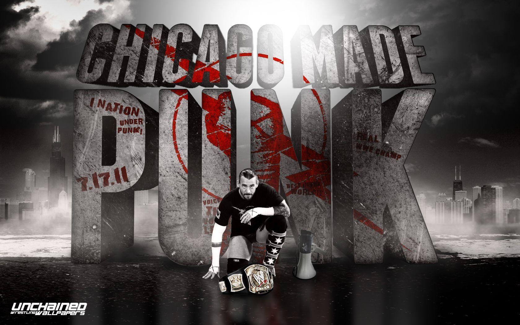 "WWE CM Punk ""Chicago Made Punk"" Wallpapers ~ Unchained"