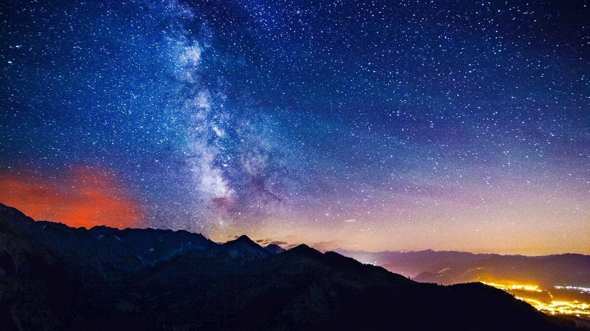 Milky Way Mountains Wallpapers