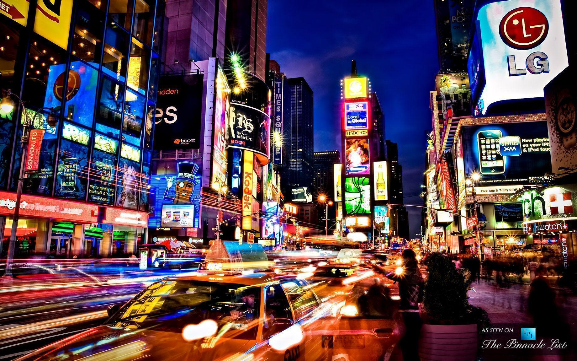 Times Square new york usa city cities neon g wallpapers