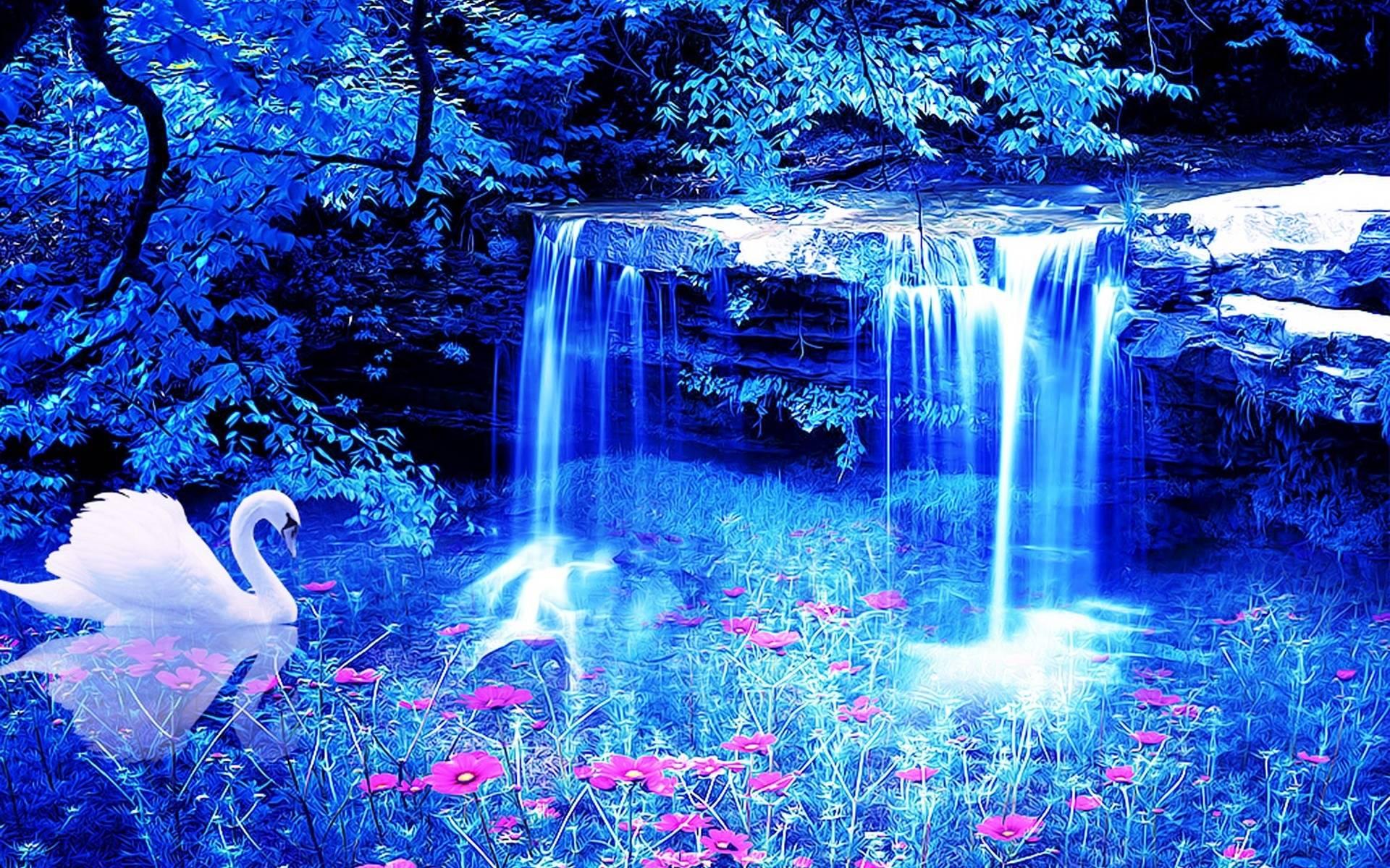 Water fall wallpapers wallpaper cave tropical waterfall desktop hd wallpaper beraplan voltagebd Image collections