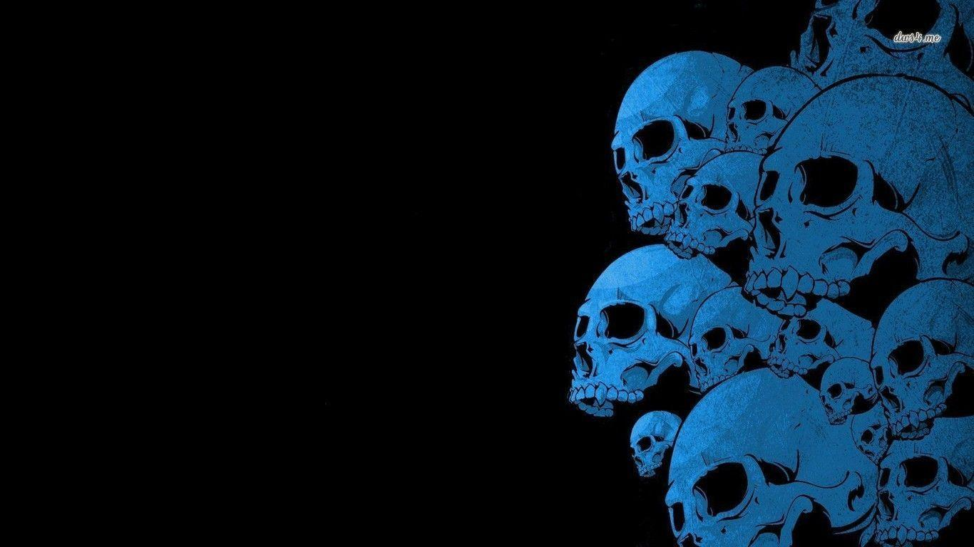 blue wallpaper skull - photo #8