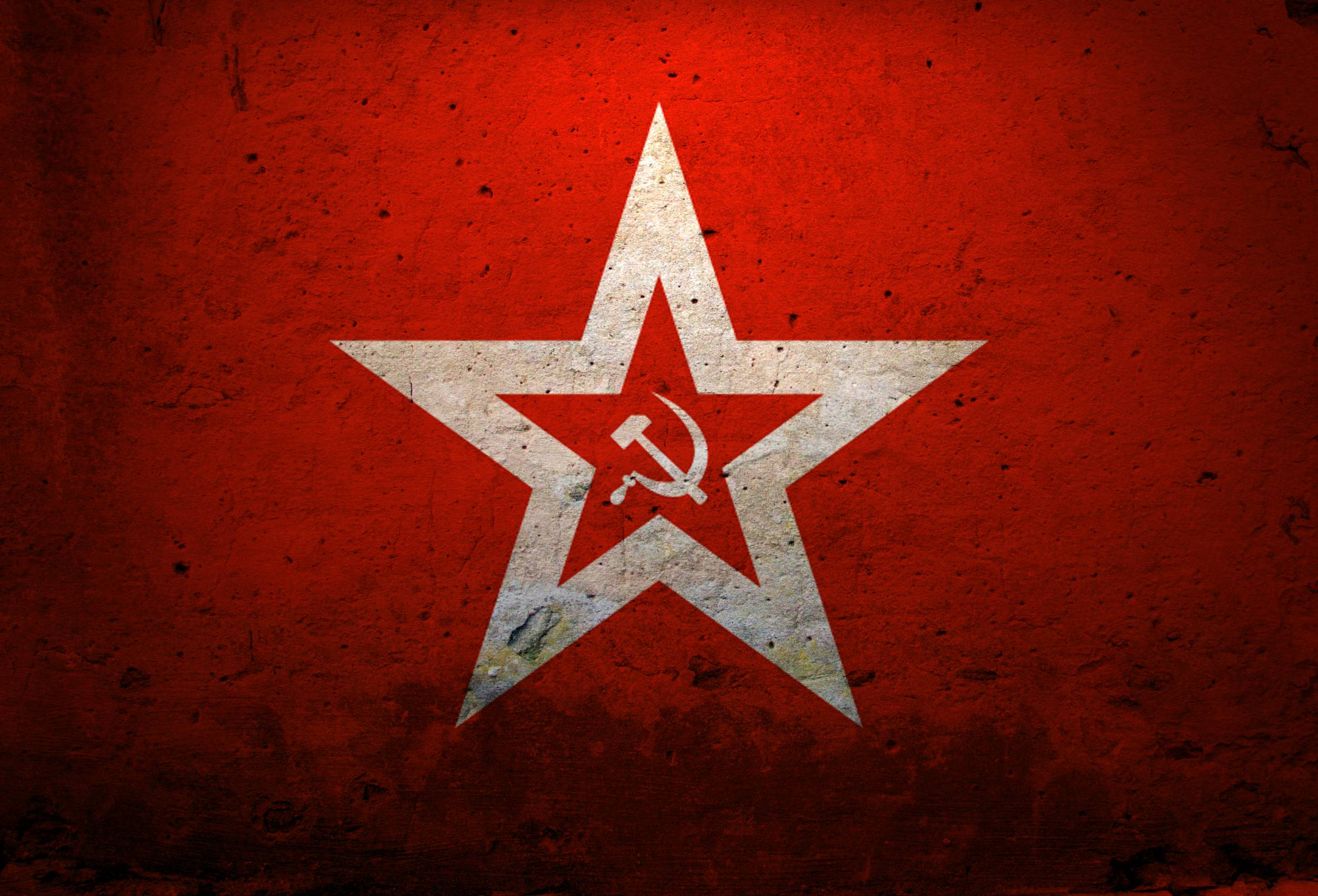 Wallpapers cyborg, the hammer and sickle, coat, red, soviet union