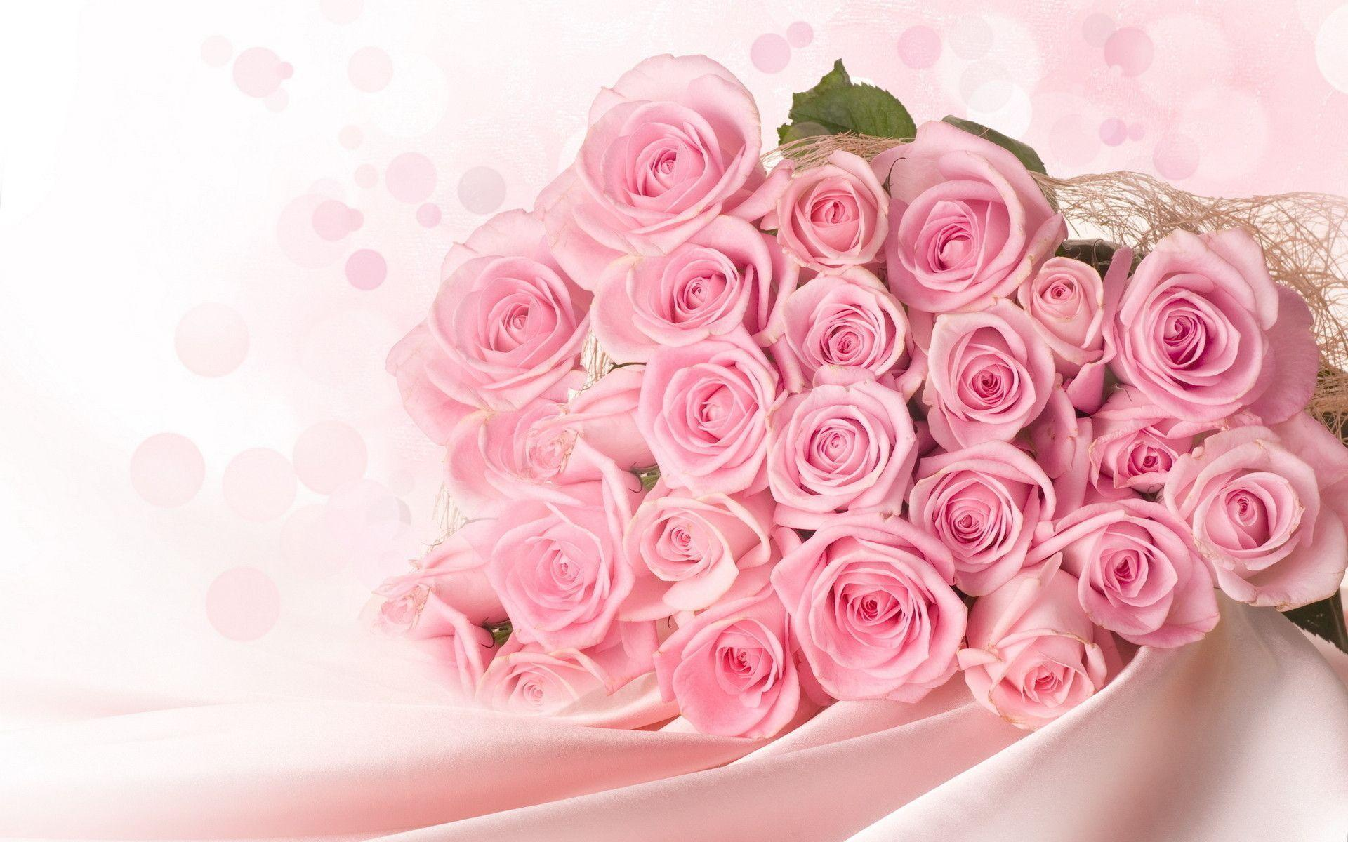 Pink Rose Bouquet Wallpapers