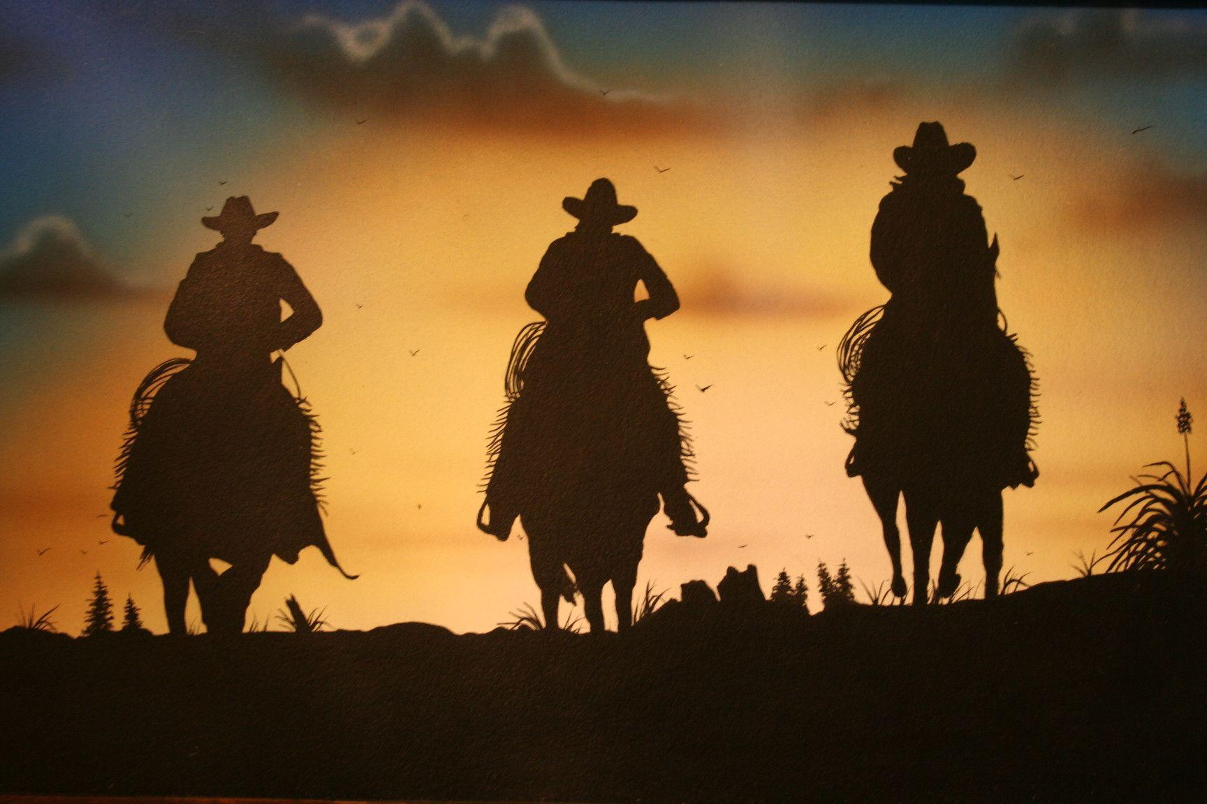 cowgirl silhouett wallpaper - photo #26