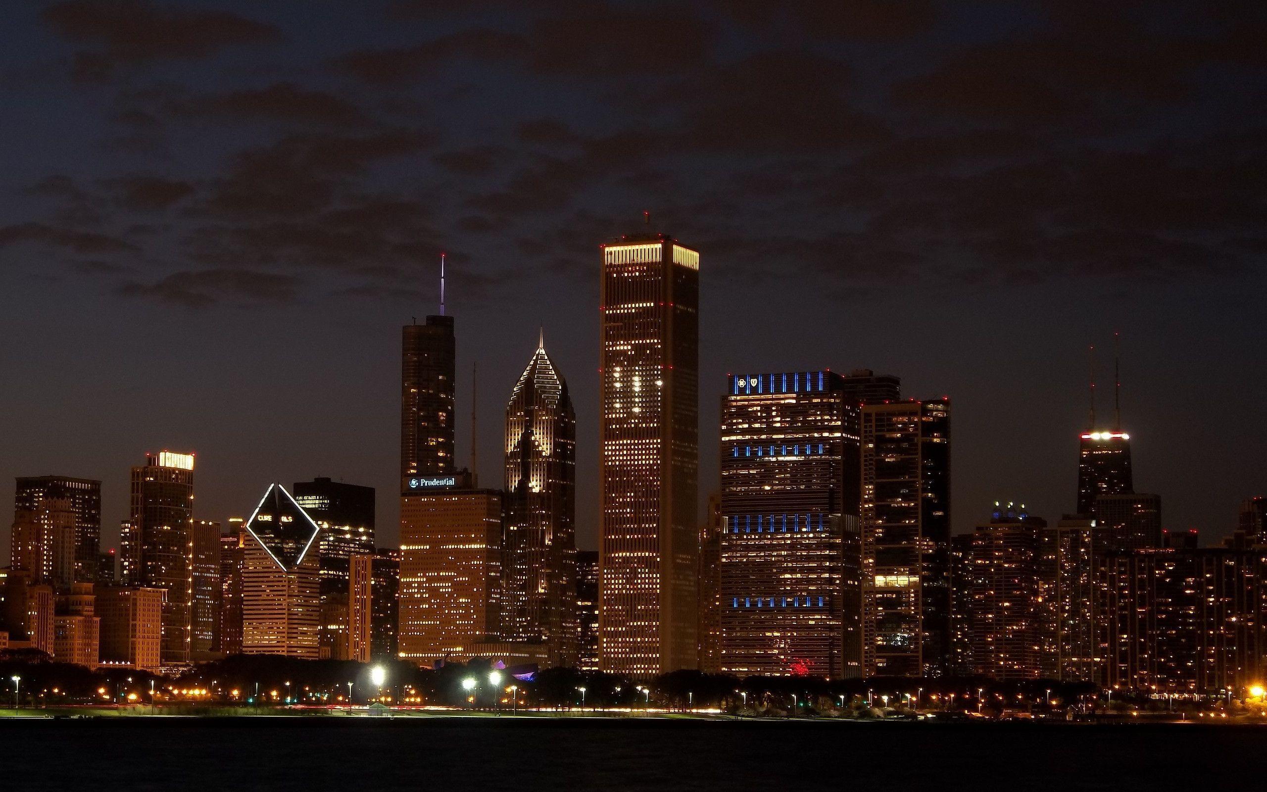 chicago night skyline wallpaper - photo #23