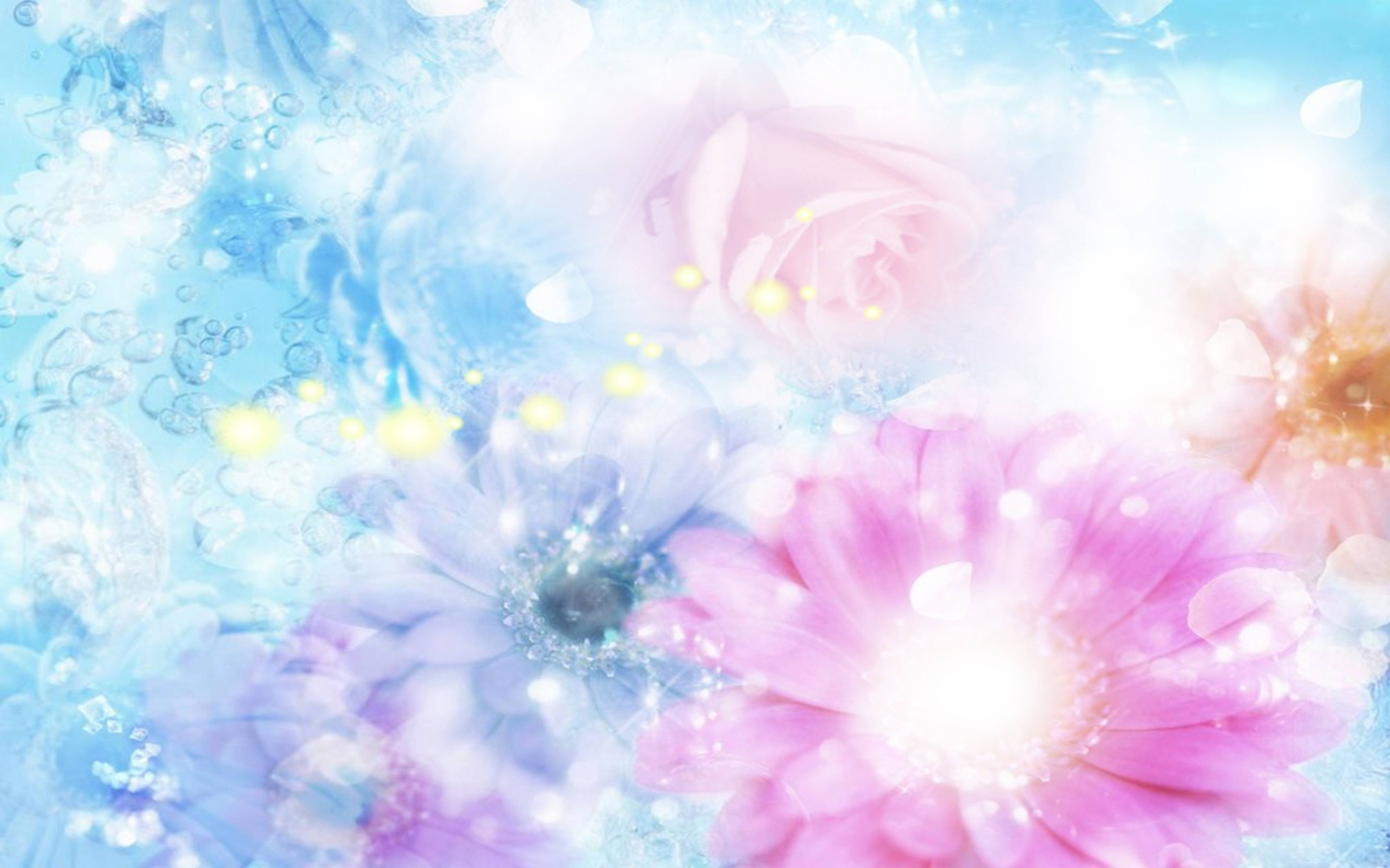 Blue flowers backgrounds wallpaper cave download wallpaper 3840x2400 pink blue flowers blurred mightylinksfo