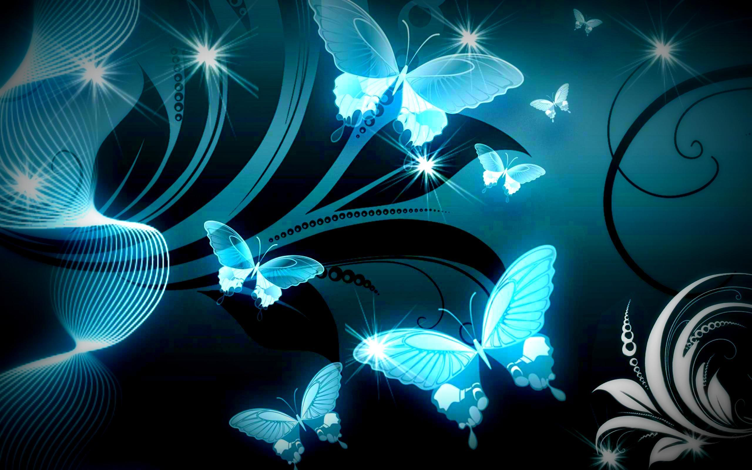 butterfly blue abstract wallpaper - photo #32