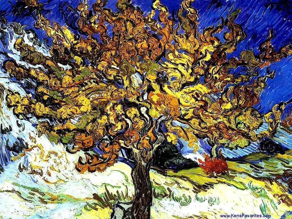 Van Gogh The Mulberry Tree Wallpapers