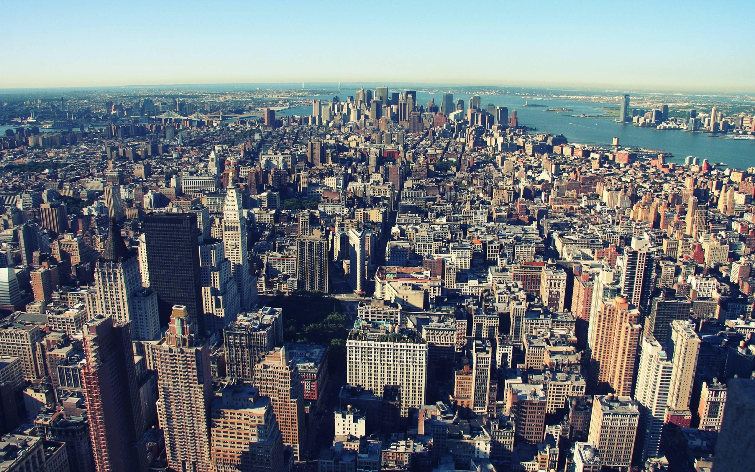 Manhattan New York City Wallpaper for widescreen City
