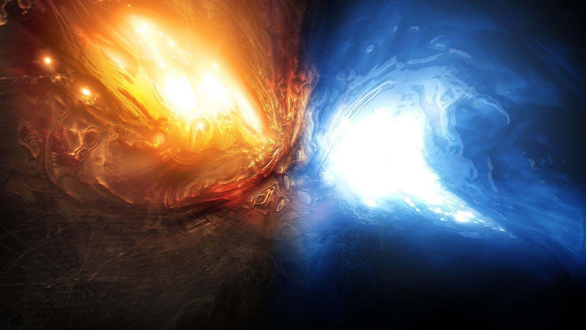 hd wallpapers fire and water abstract