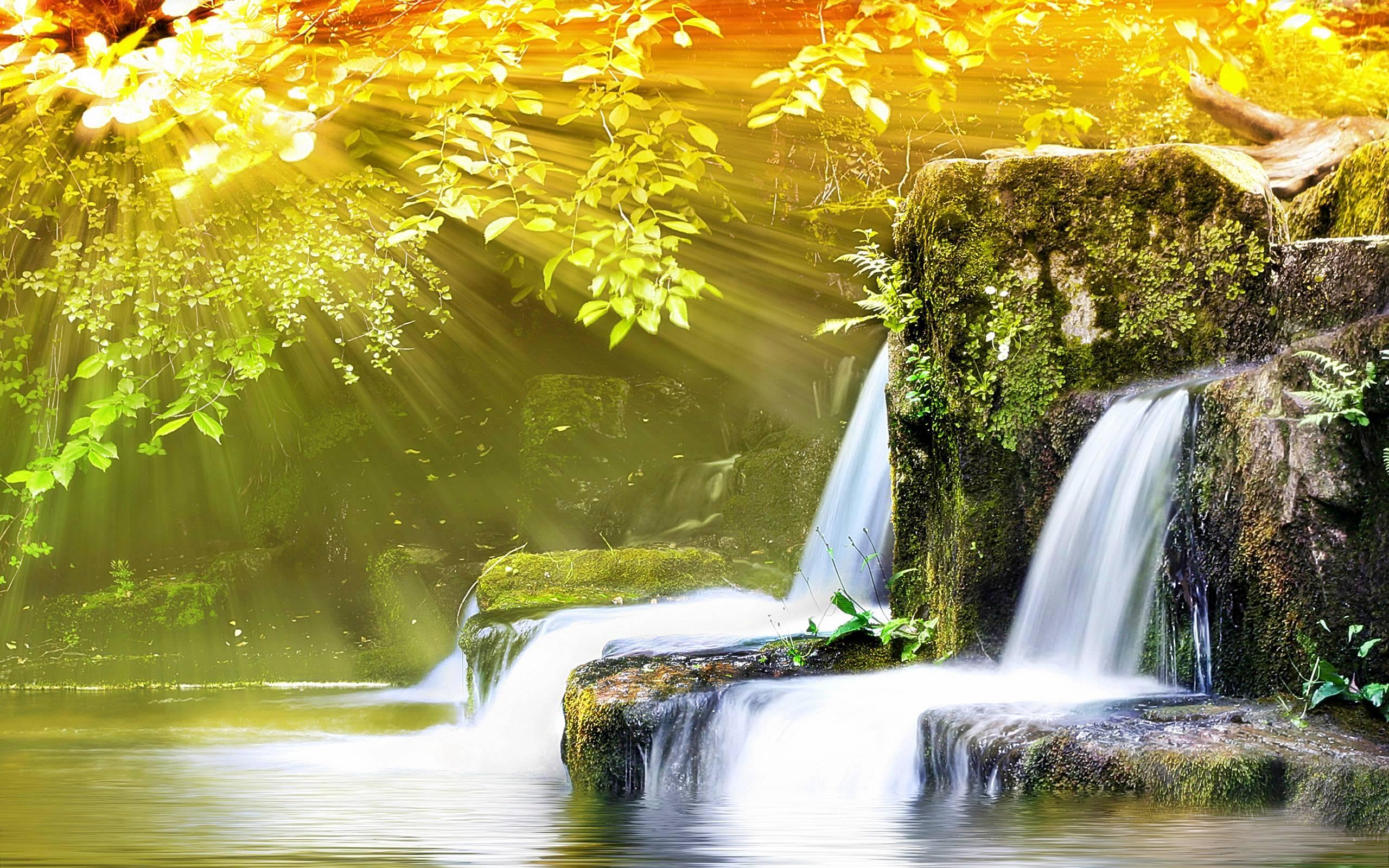 Обои для рабочего стола водопады весной