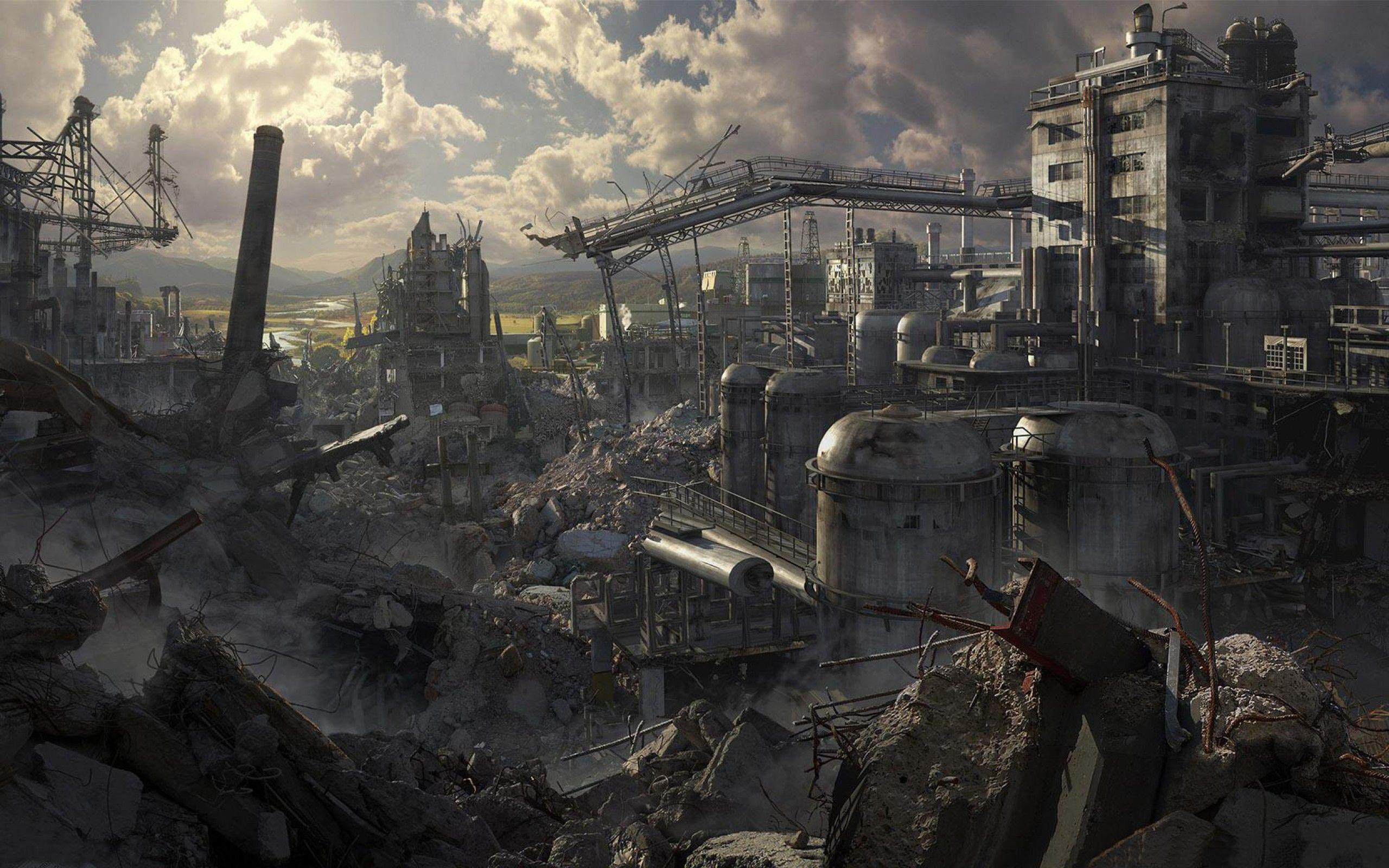 A destoryed and conquered city