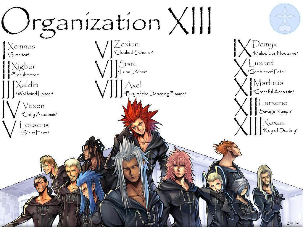 Image For > Kingdom Hearts Organization 13 Wallpapers