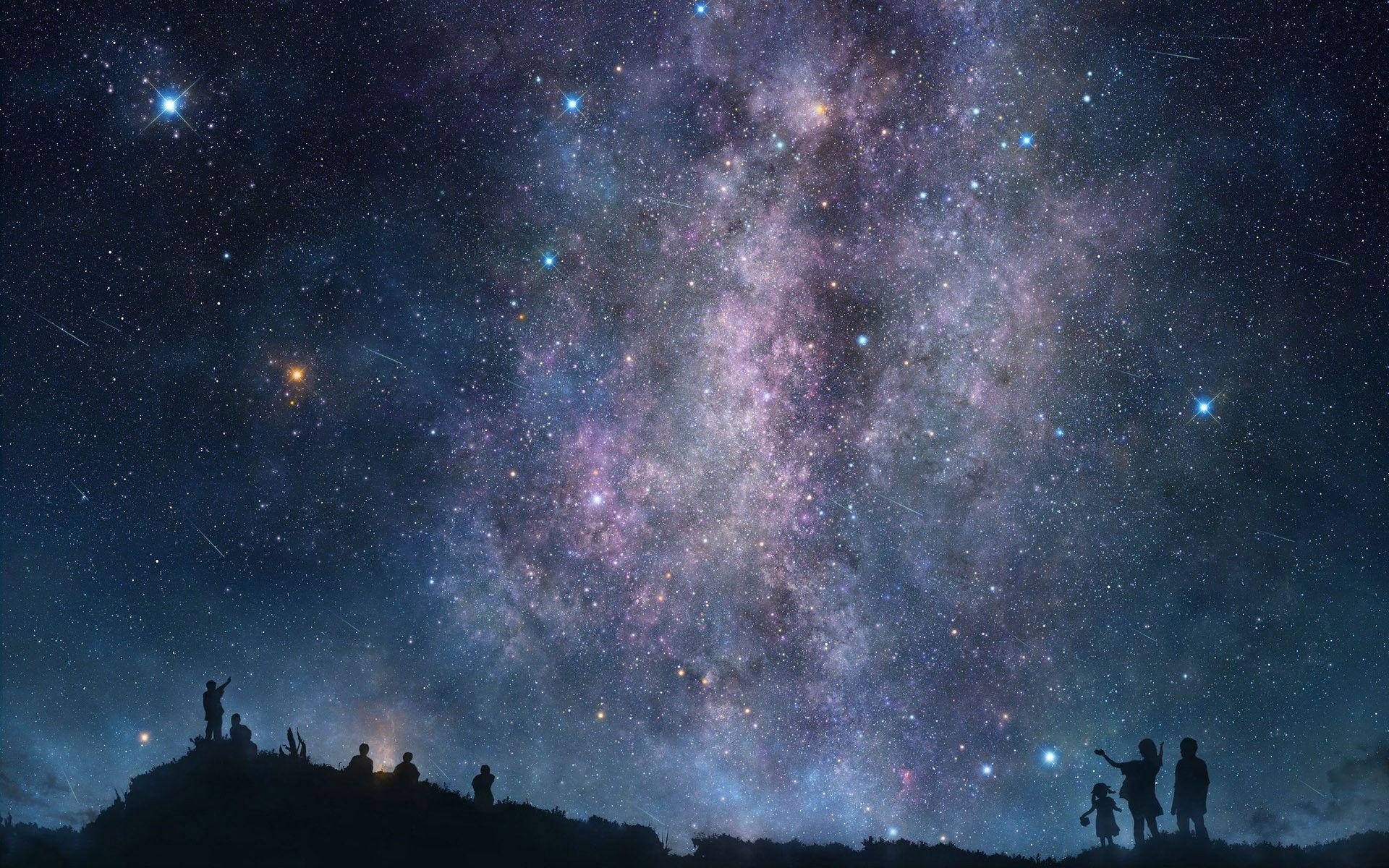 Hd wallpaper night - Night Sky Wallpapers Full Hd Wallpaper Search