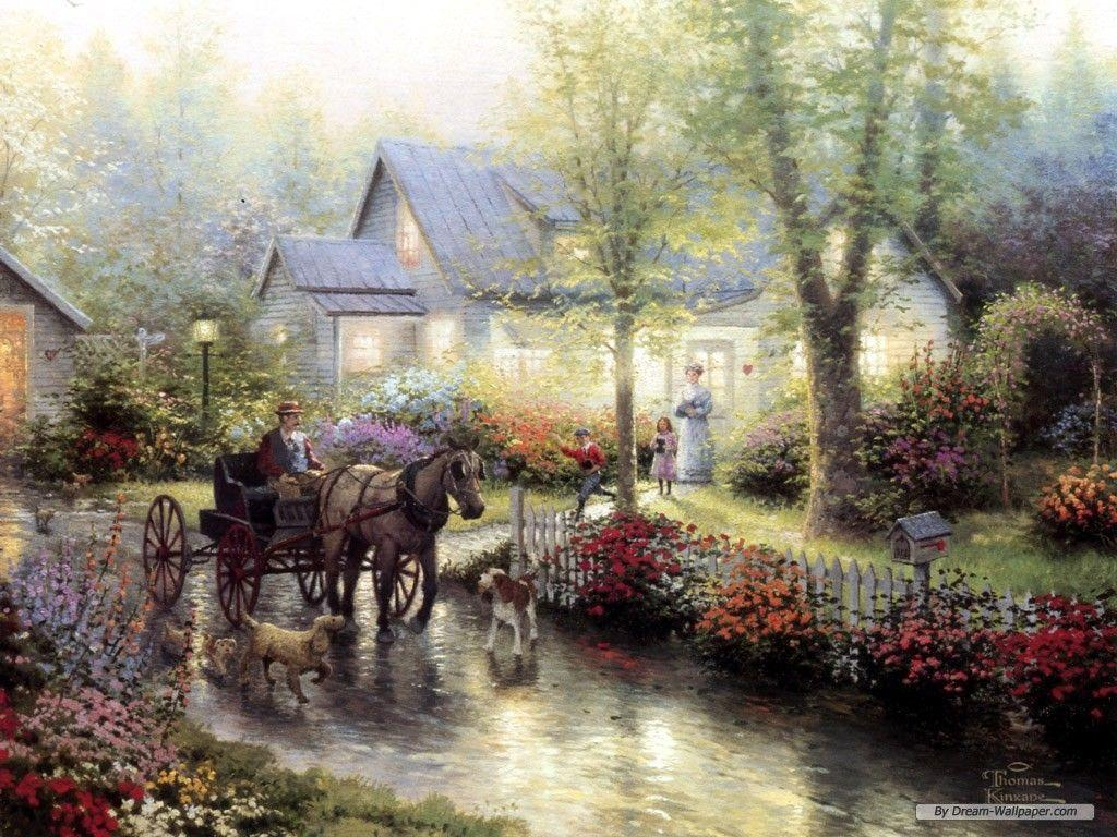 Free Wallpaper - Free Nature wallpaper - Thomas Kinkade wallpaper ... Download