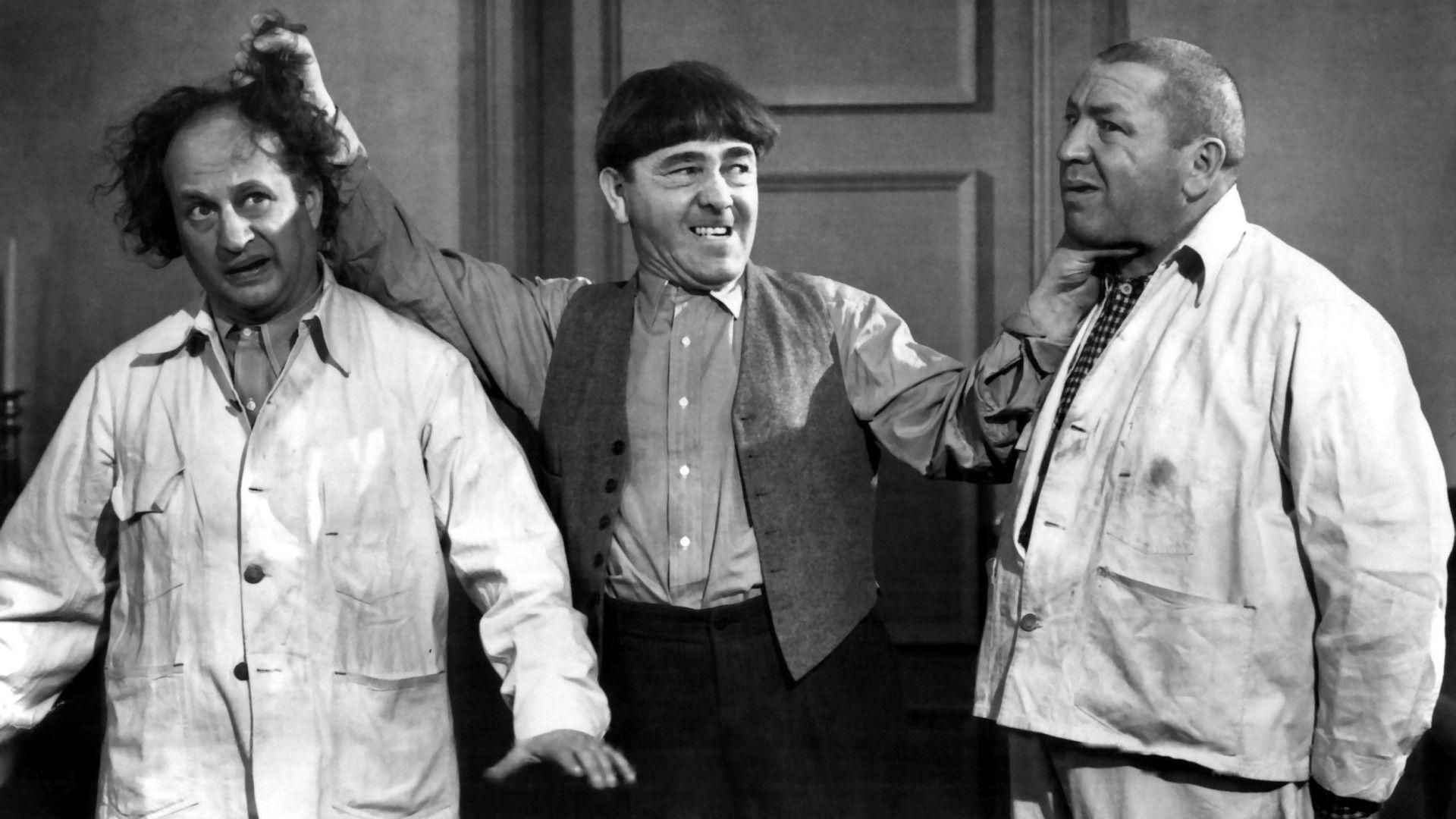 Three Stooges wallpaper entitled moe & curly