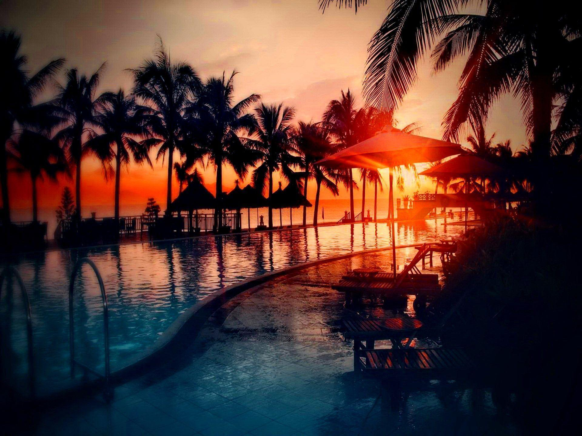 tropical sunset backgrounds - photo #4