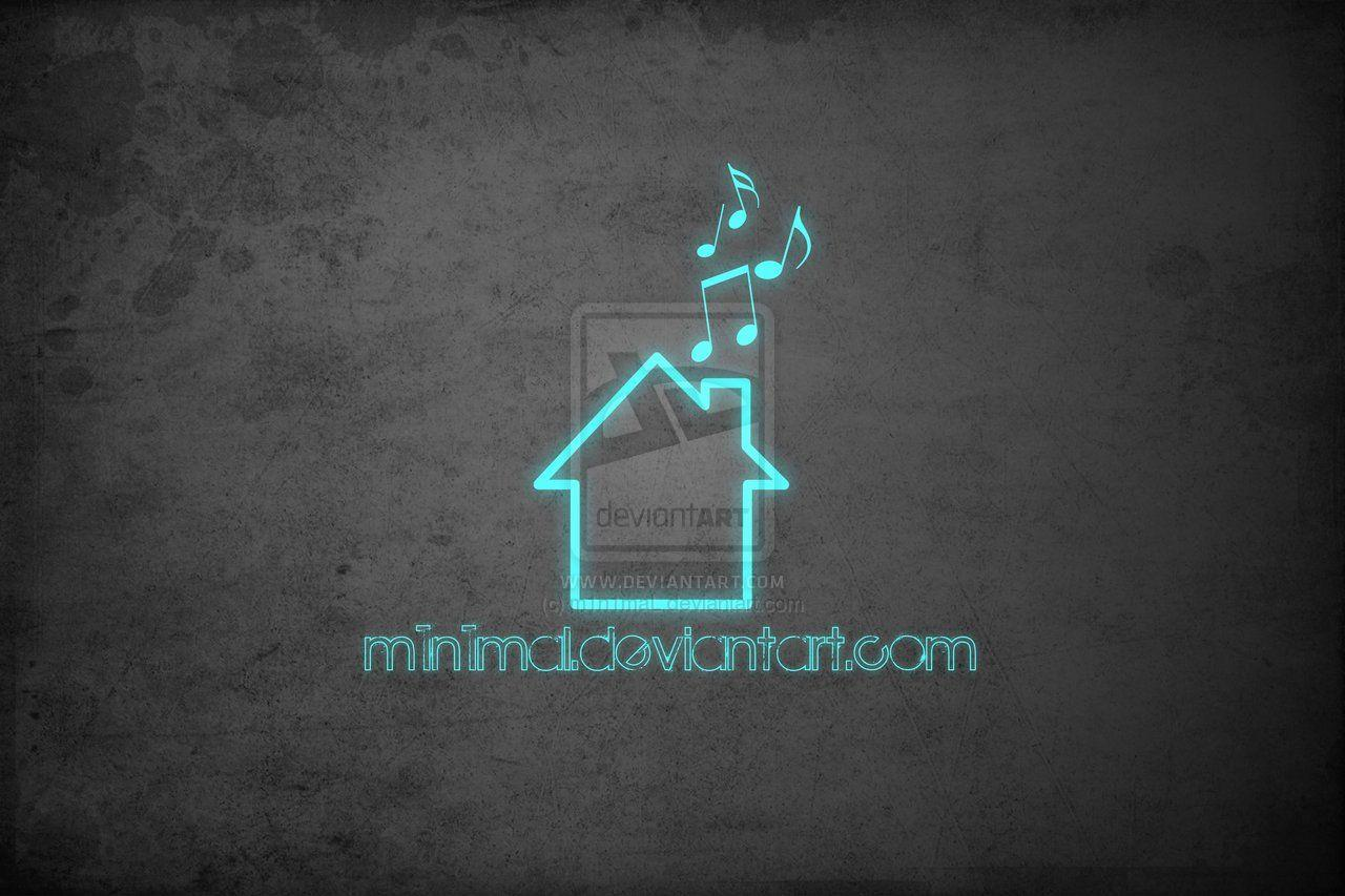 Simple house music wallpaper by m1n1maL on DeviantArt