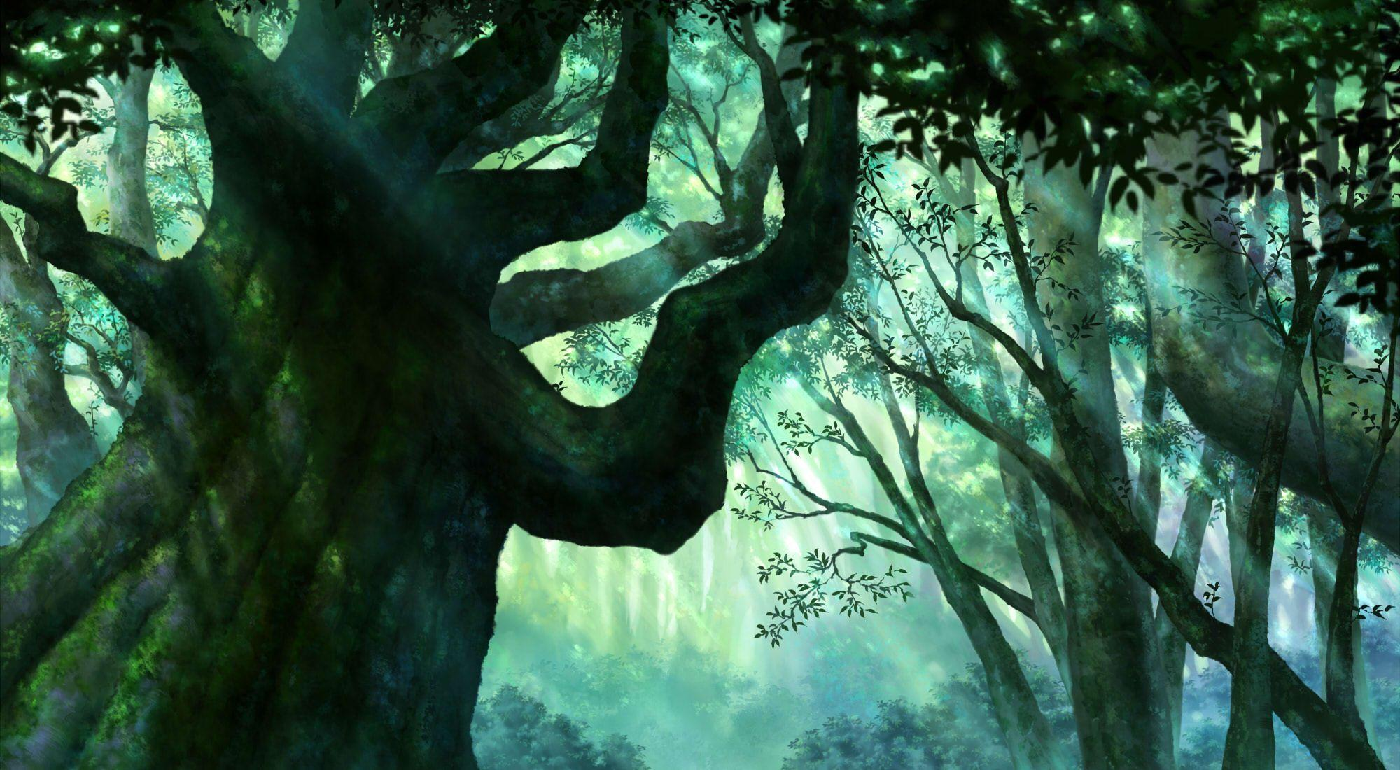 Images For > Anime Backgrounds Forest