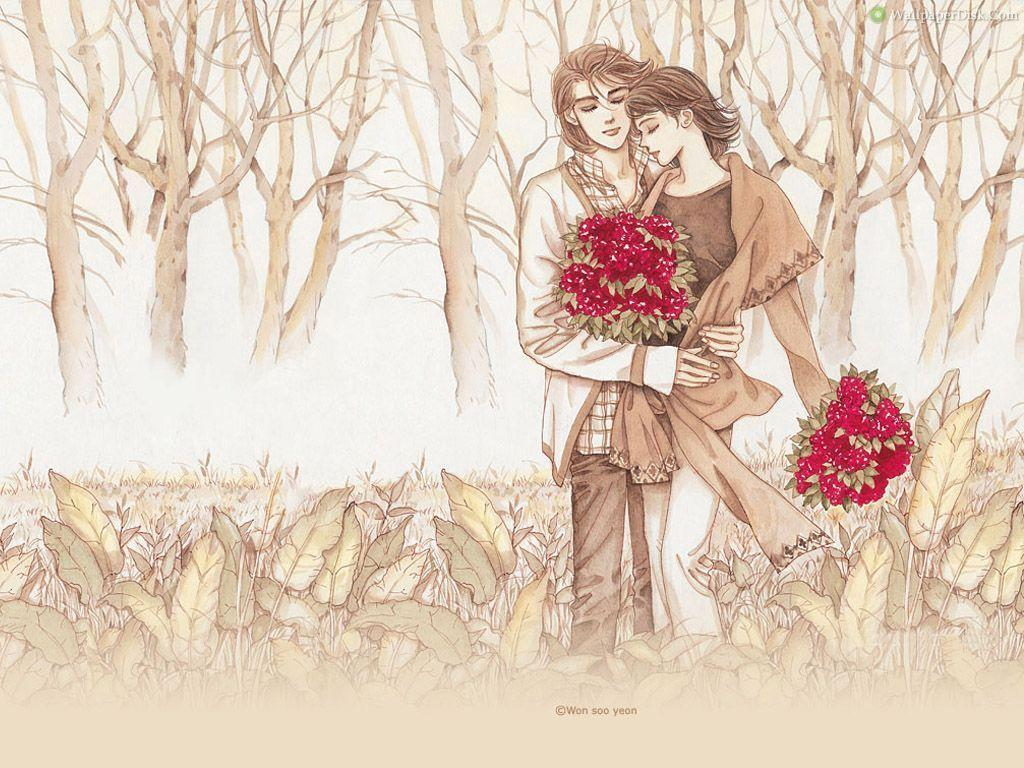 Romantic Love cartoon Wallpaper : Love couple Wallpapers - Wallpaper cave