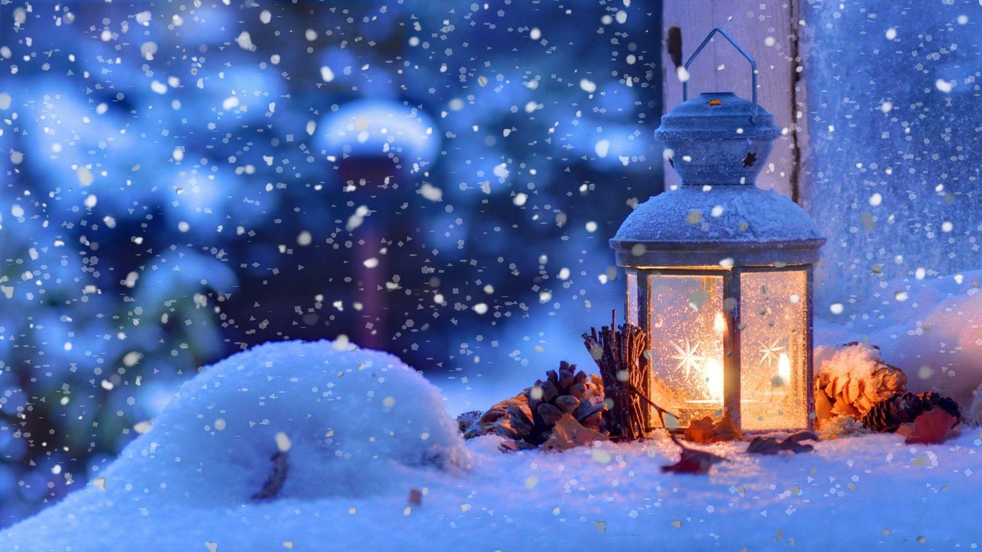 Christmas snow winter, light, snowflakes Wallpaper | 1920x1080 ...