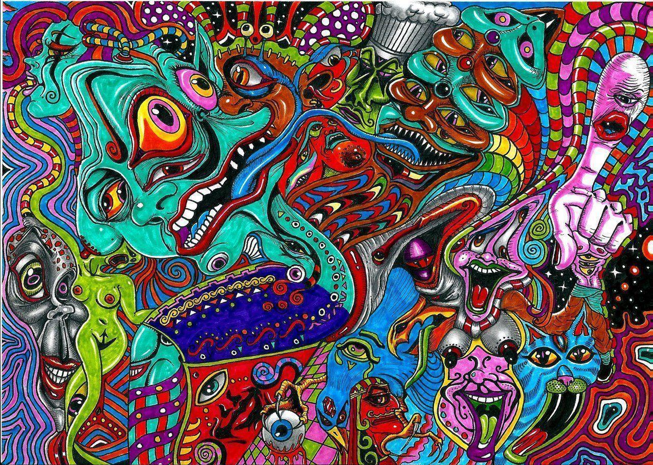 Acid trip wallpapers wallpaper cave - Trippy acid pics ...