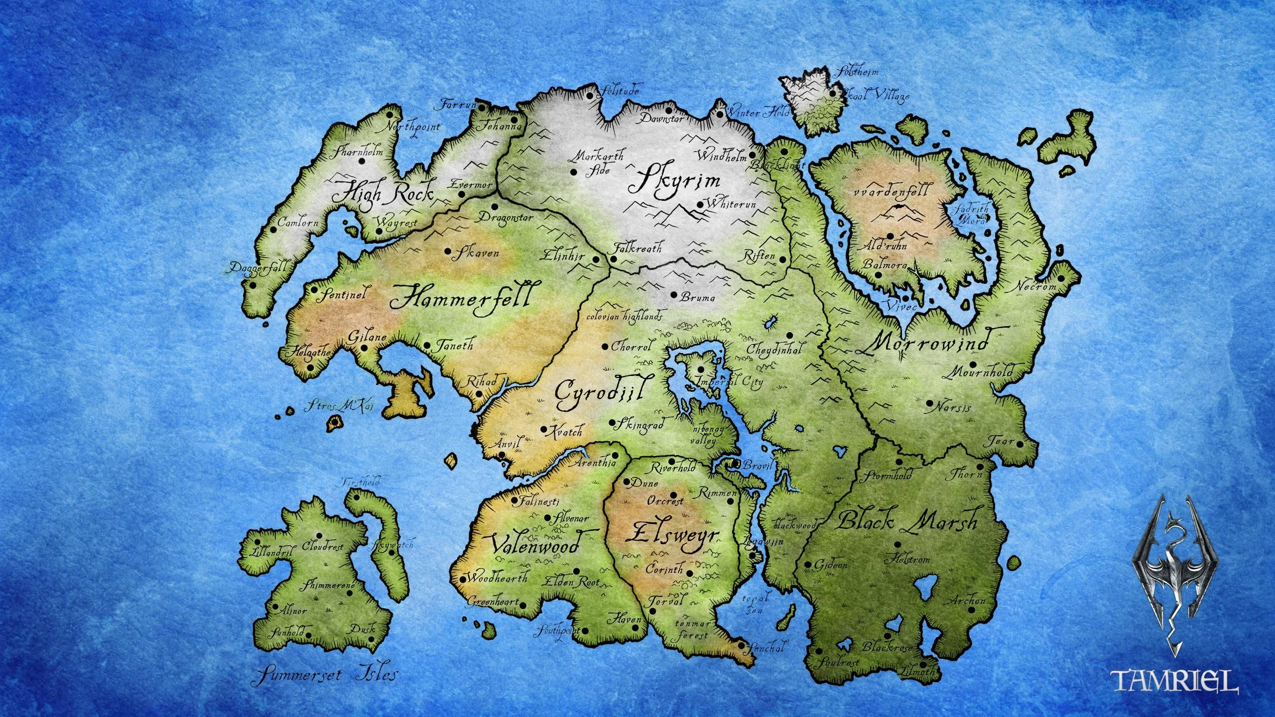 Skyrim map wallpapers wallpaper cave tamriel map the elder scrolls v skyrim wallpaper gumiabroncs Gallery