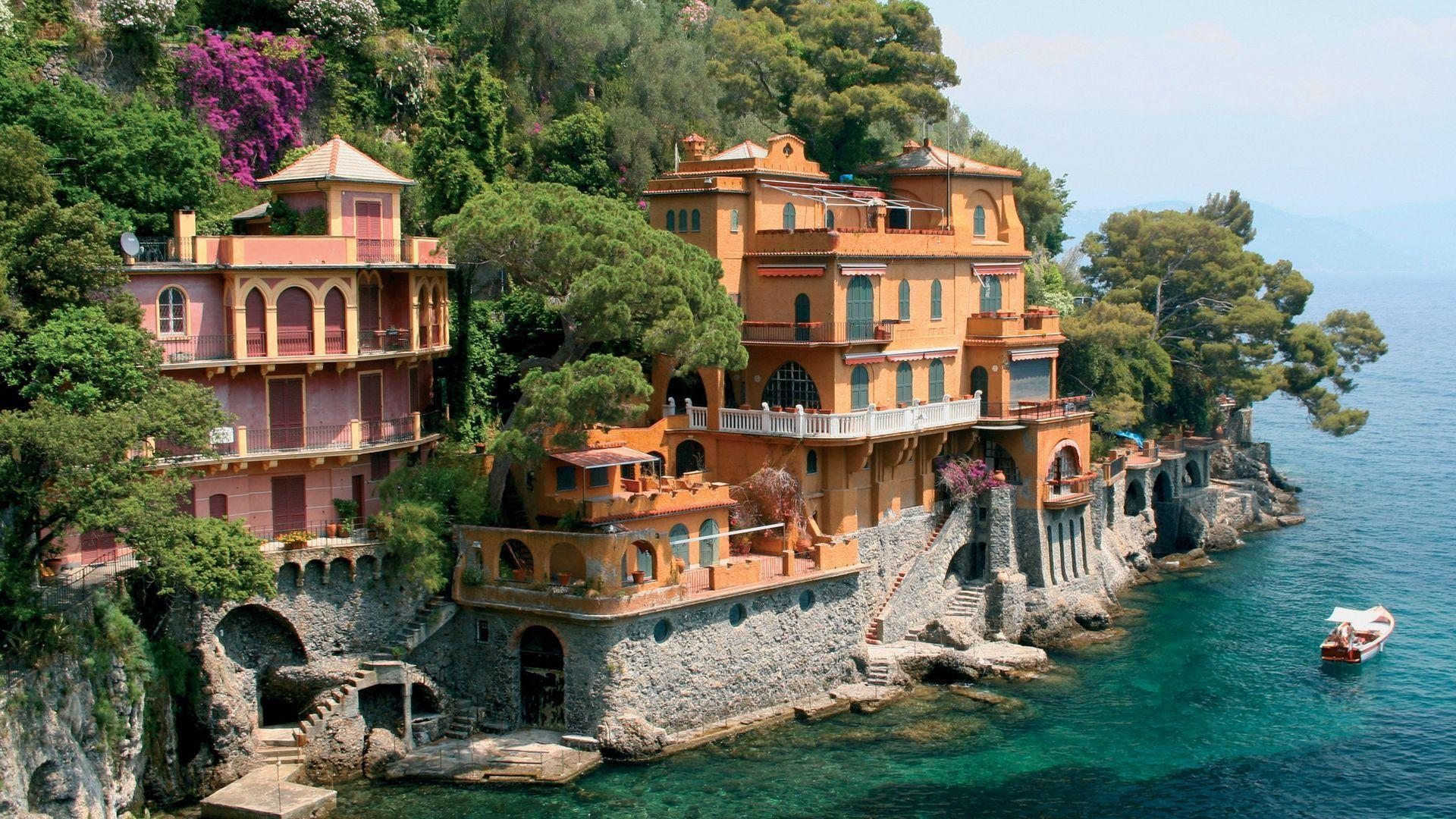 Portofino Genoa Italy World Desktop Wallpaper