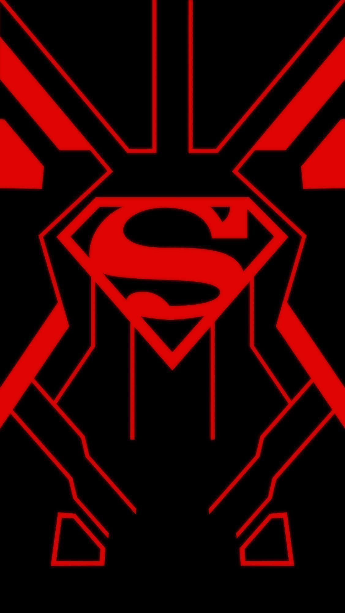 superman symbol wallpaper iphone