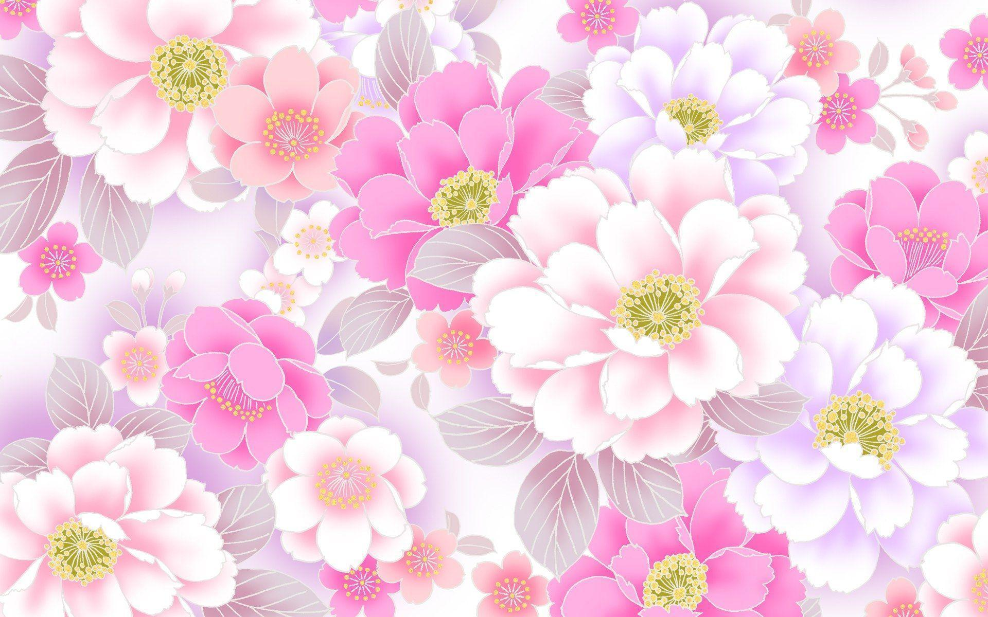 floral desktop backgrounds wallpaper cave