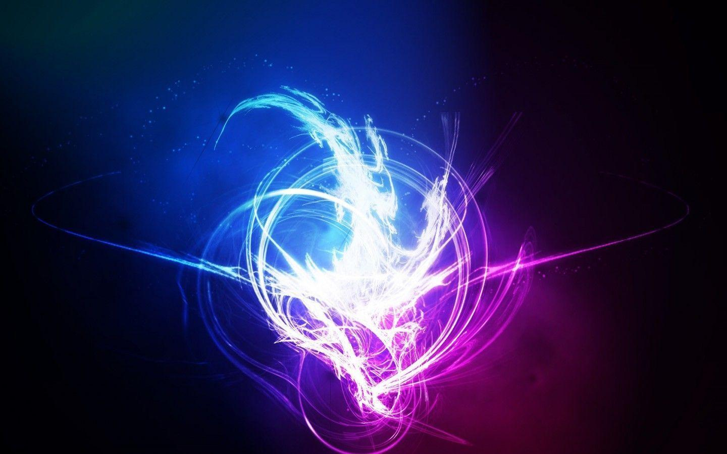 Wallpapers For > Neon Blue Abstract Wallpapers