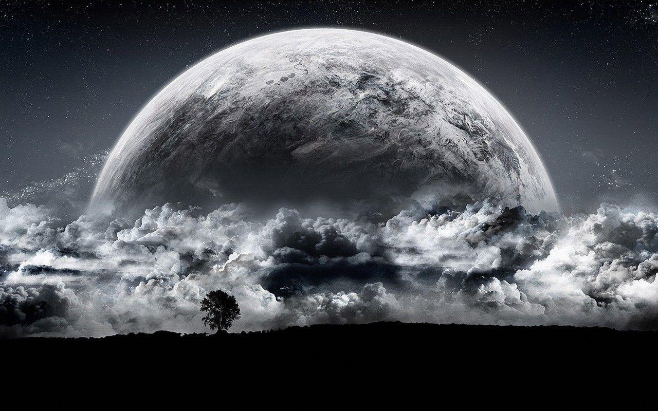Full Moon HD Background - Universe Desktop Wallpaper
