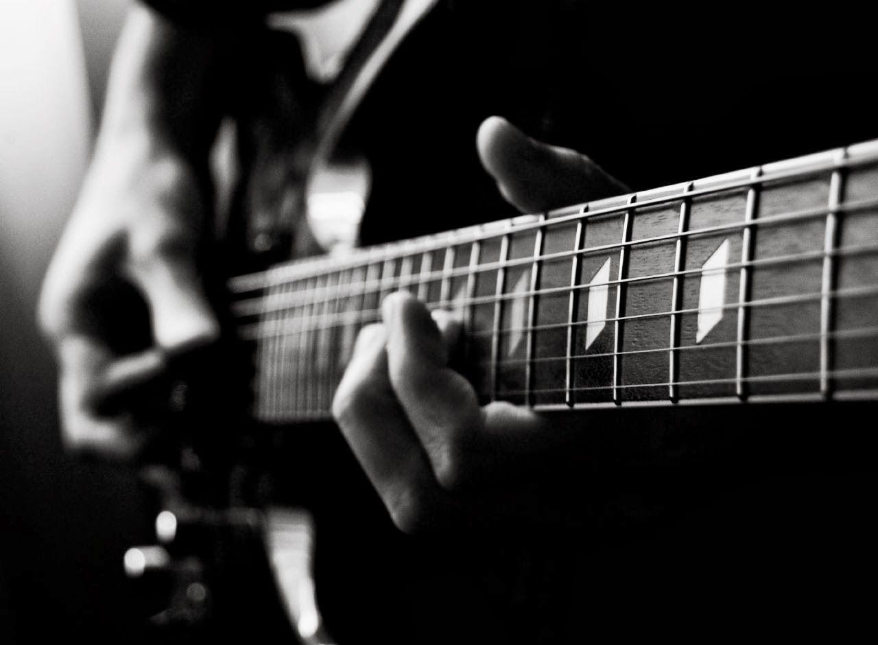 Wallpapers For > Black And White Electric Guitar Wallpapers