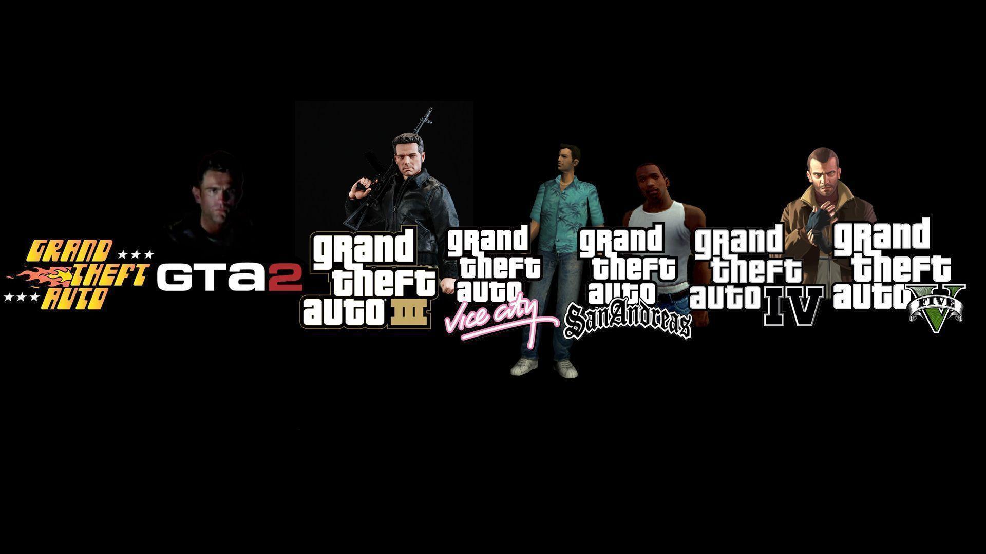 GTA Open World Game History Black Wallpaper