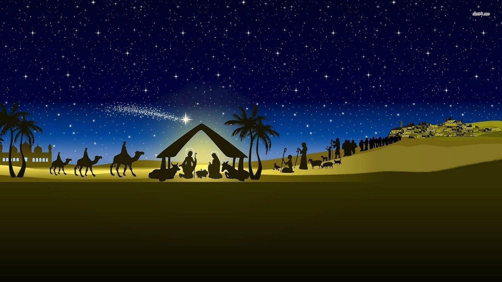 nativity scene backgrounds wallpaper cave