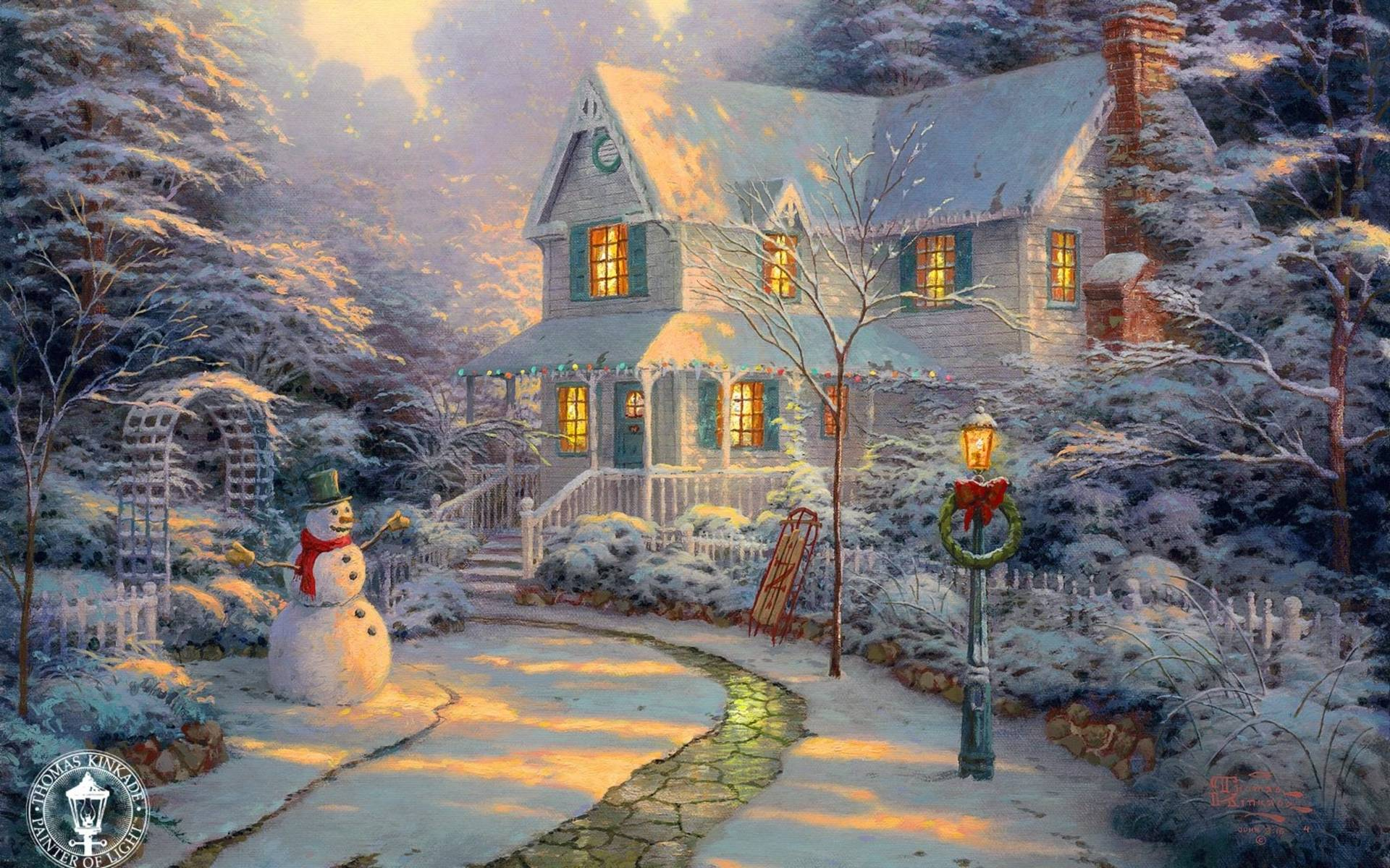Xmas Stuff For > Thomas Kinkade Christmas Wallpapers