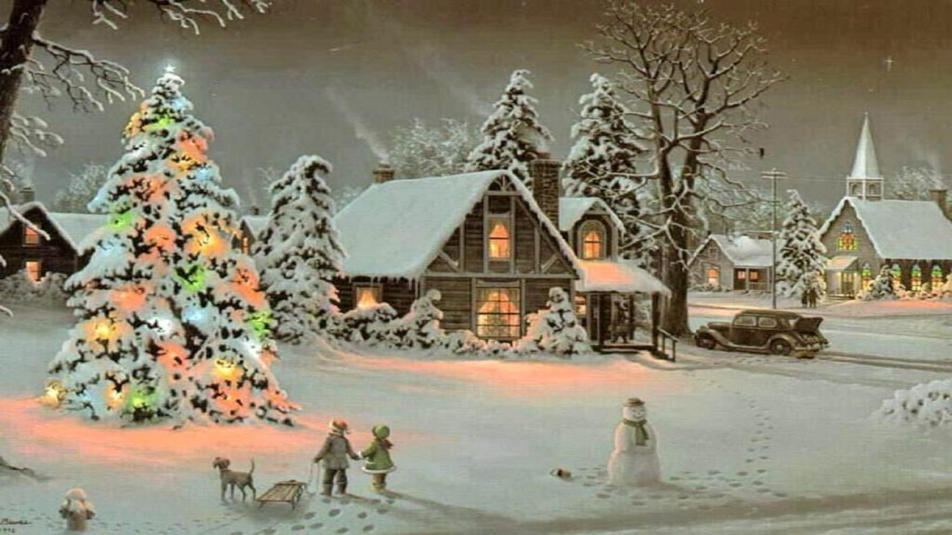 Christmas village wallpapers wallpaper cave - Christmas village wallpaper widescreen ...
