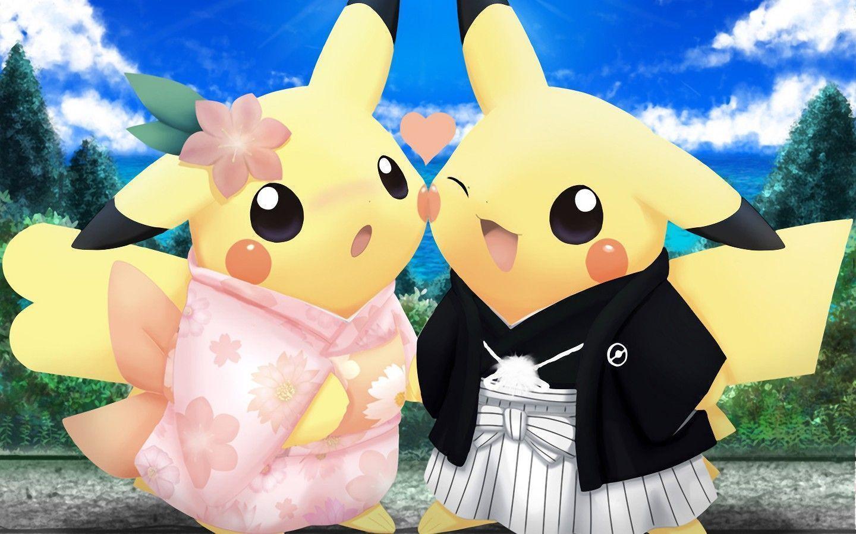 cute pikachu couple pokemon - photo #36
