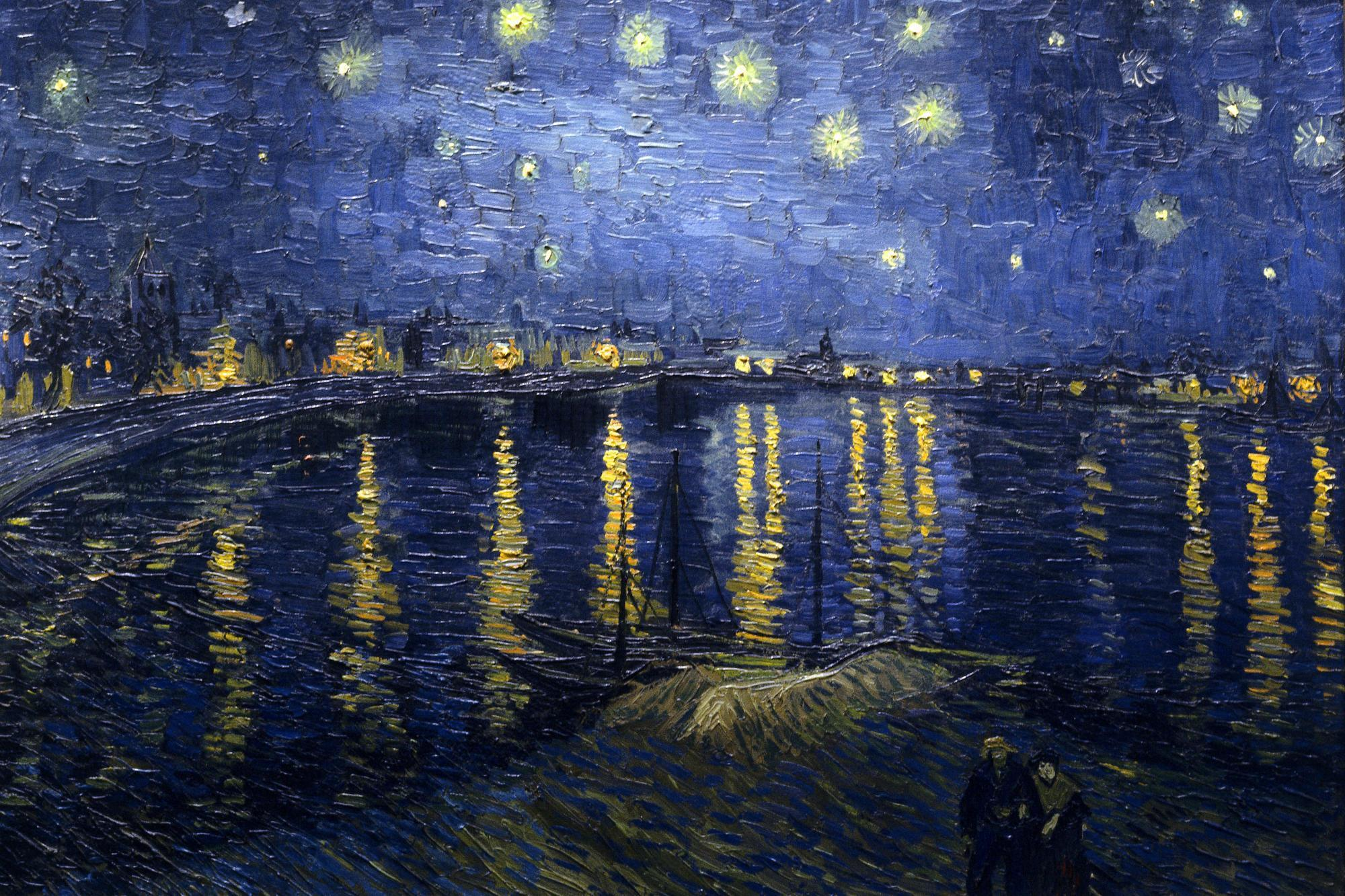 Starry Night Over the Rhone : Van Gogh painting