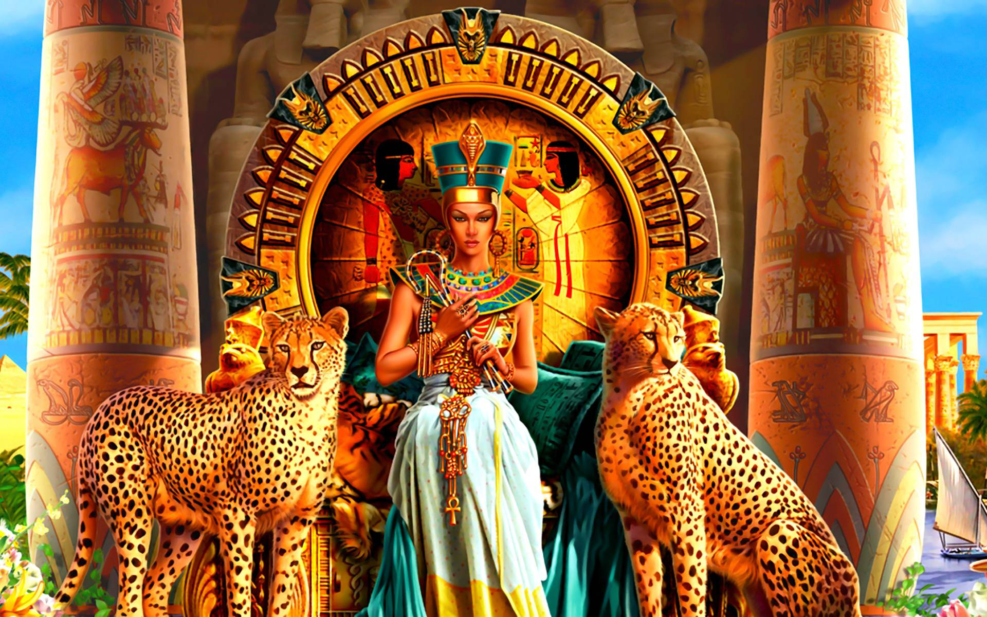 Pix For > Black Egyptian Queen Art