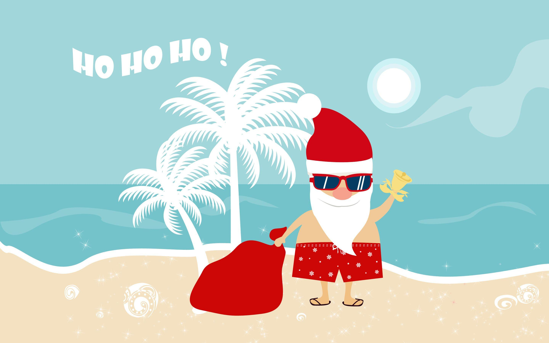 Santa On The Beach Clipart Christmas beach wallpapers - wallpaper cave