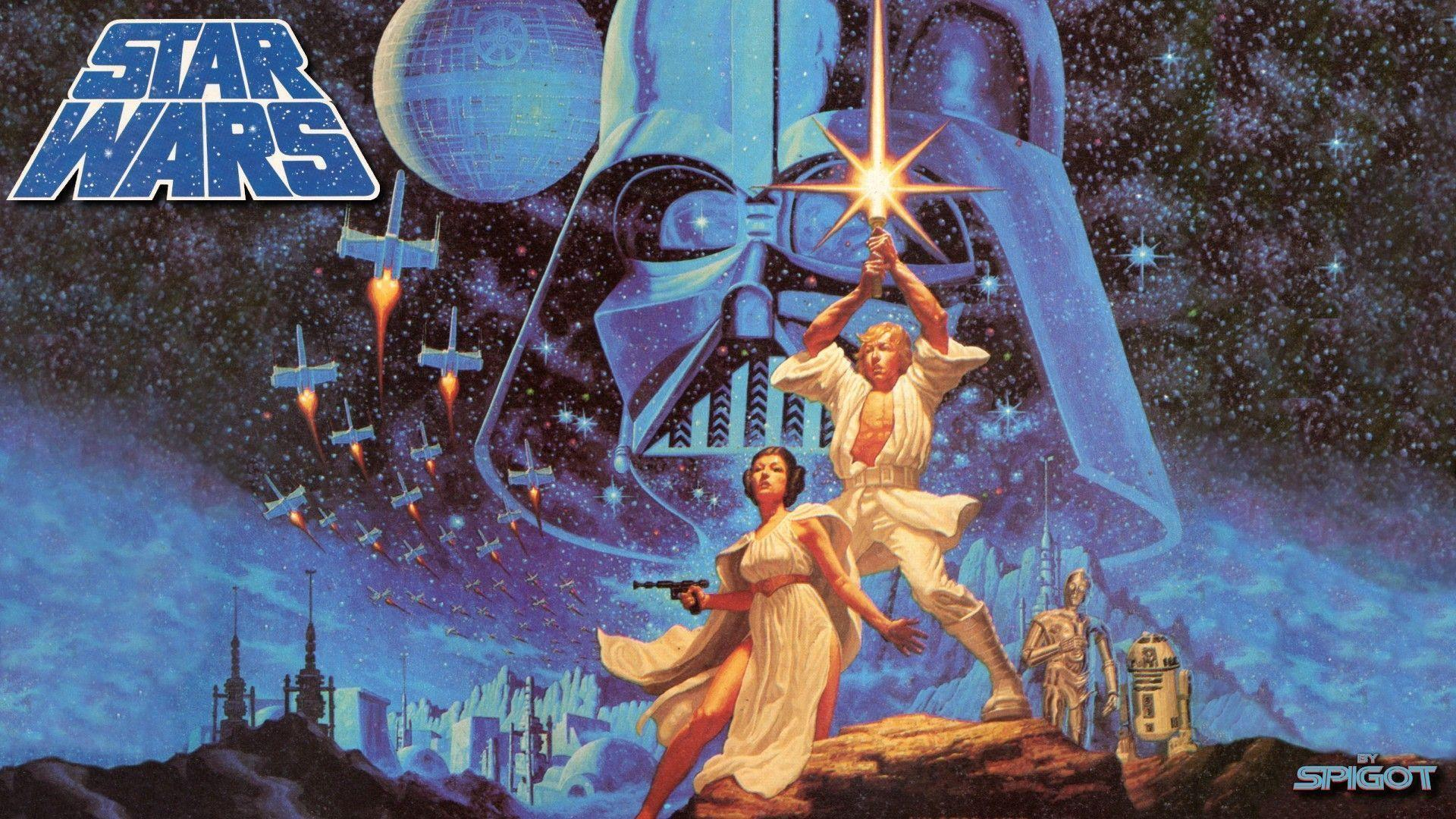 New Classic Star Wars Wallpaper | George Spigot's Blog