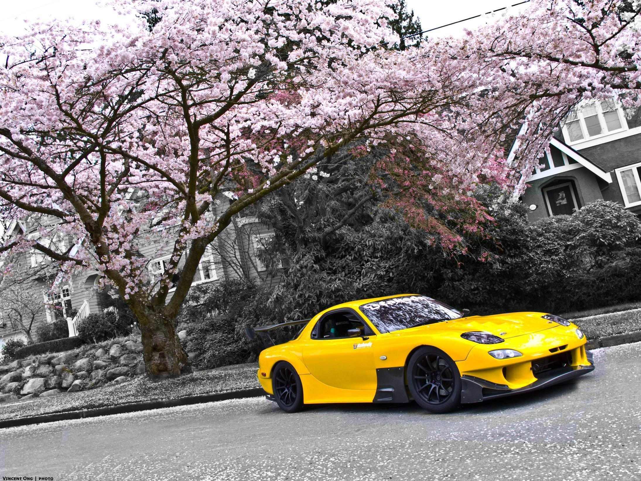 Yellow Mazda RX7 Wallpaper | hdwallpapers-