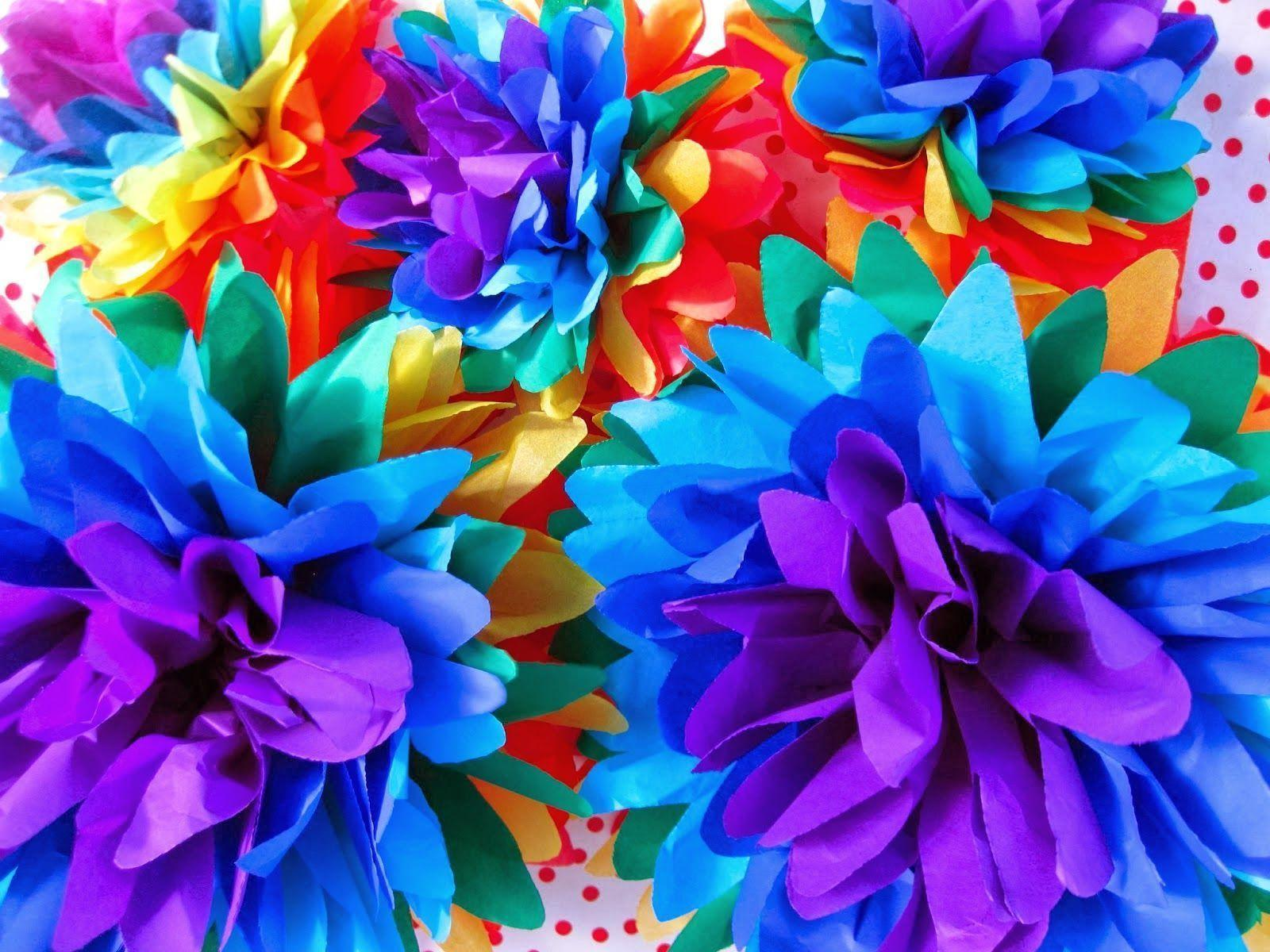 rainbow flowers wallpaper paintings - photo #2
