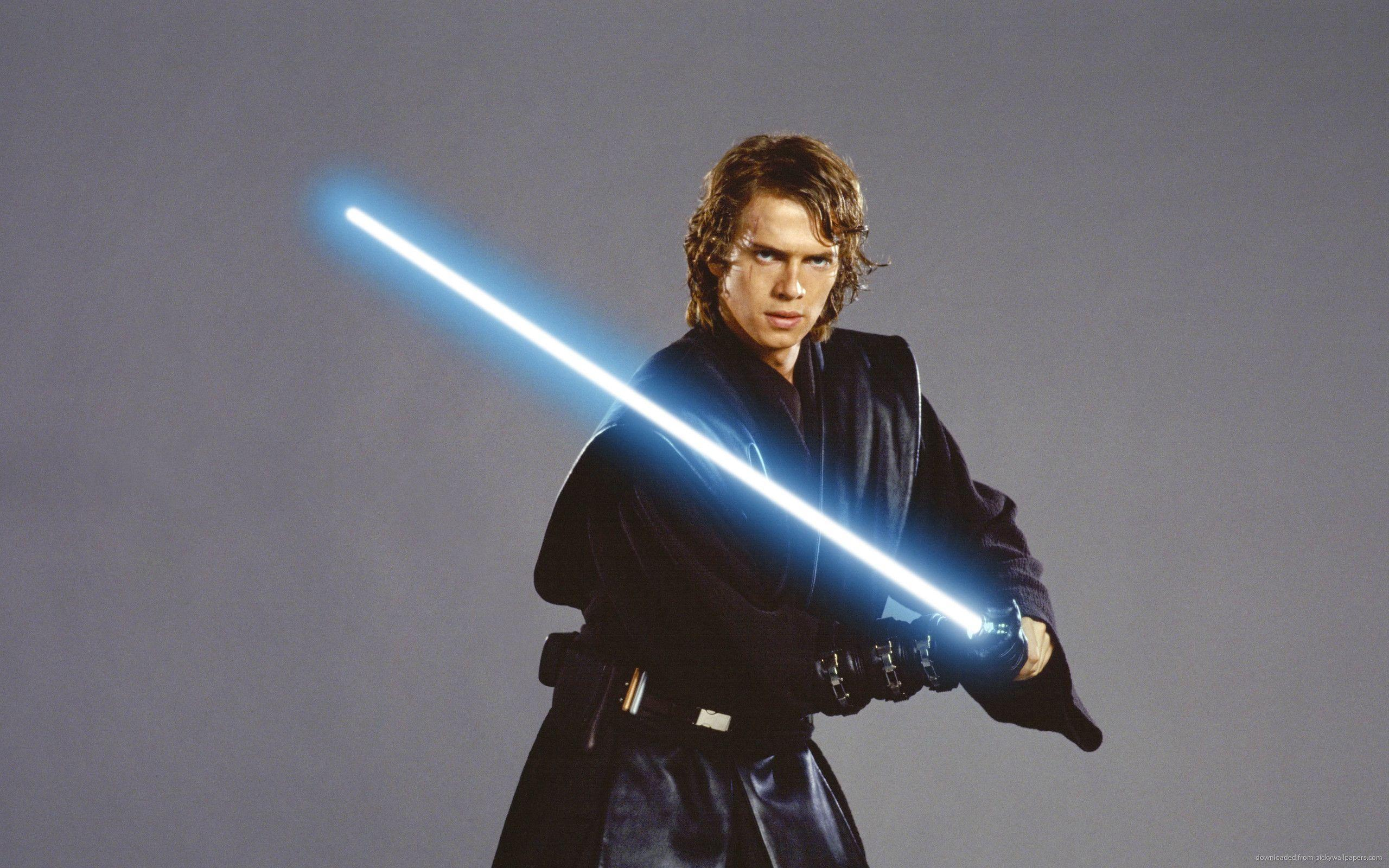 Download 2560x1600 Anakin Skywalker With Jedi Lightsaber Wallpapers
