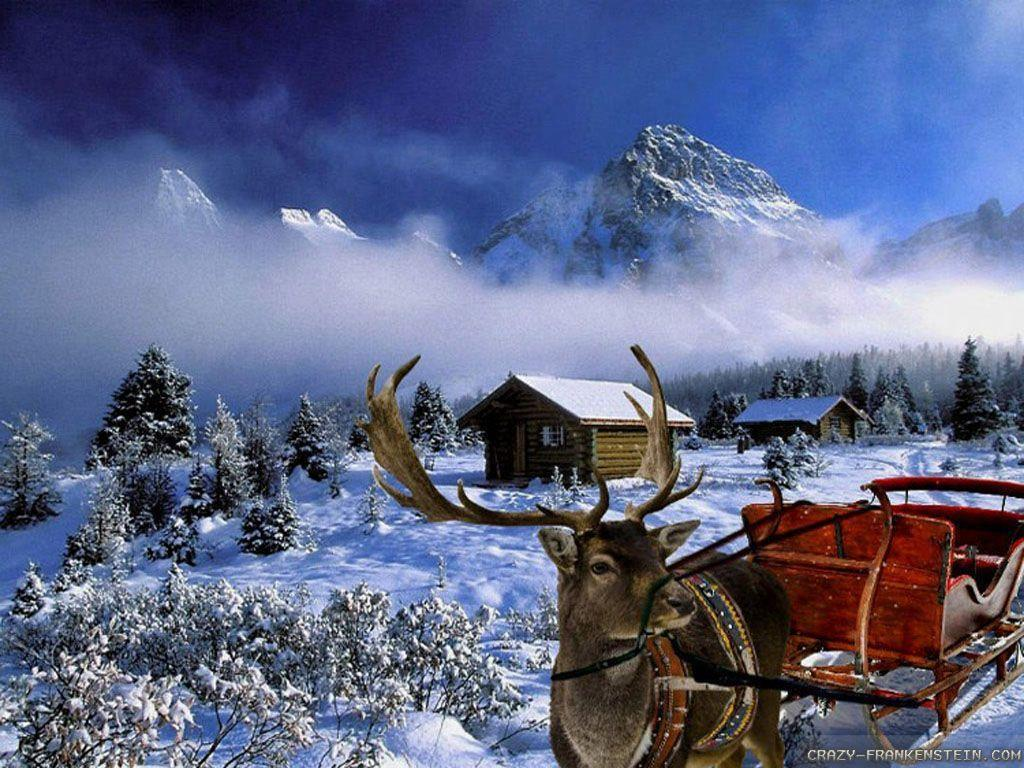 Winter Christmas Backgrounds: Christmas Winter Scenes Wallpapers