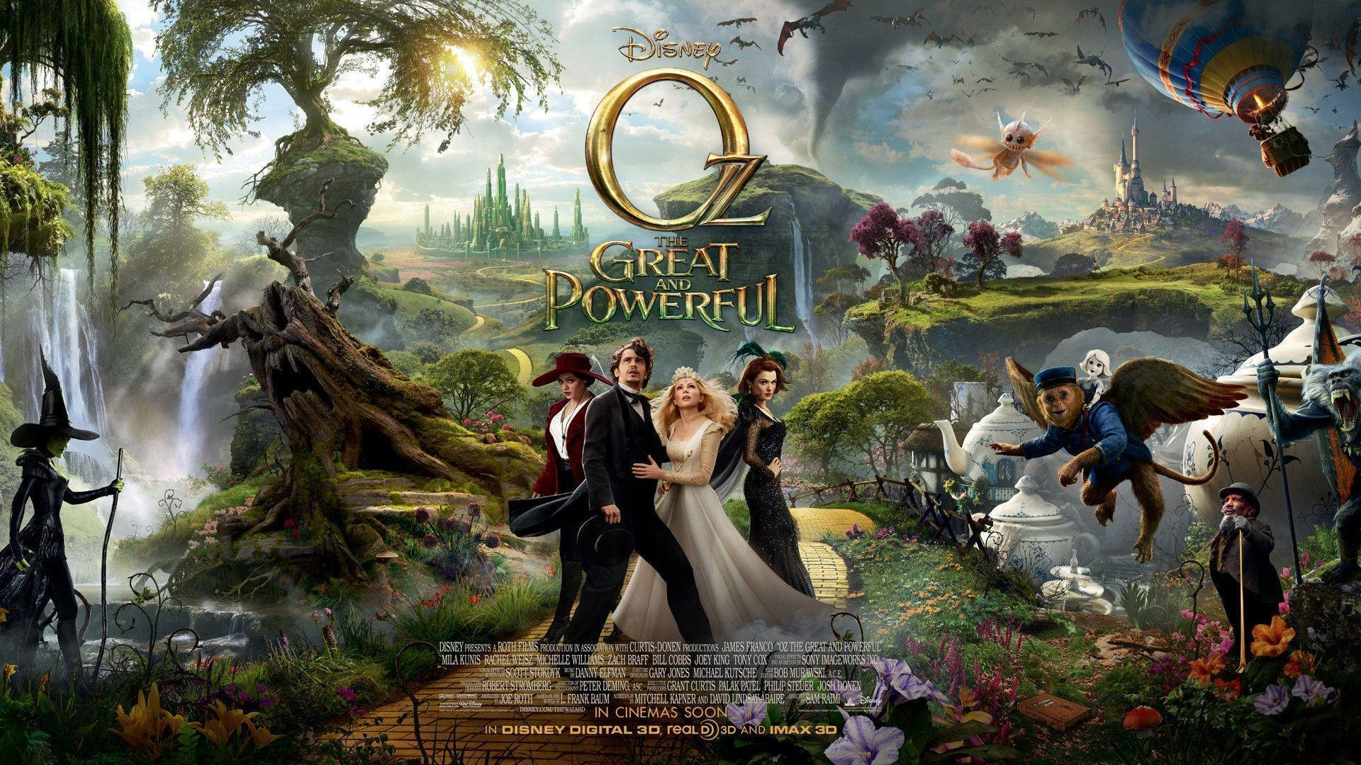 OZ the Great and Powerful 3D Movie HD 1080p Wallpapers Download