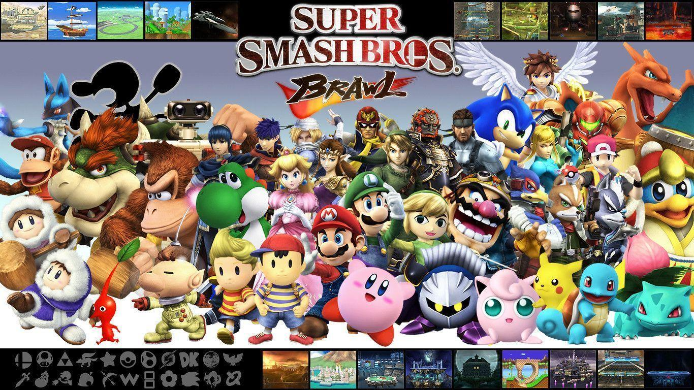 everyone in super smash bros brawl - Super Smash Bros
