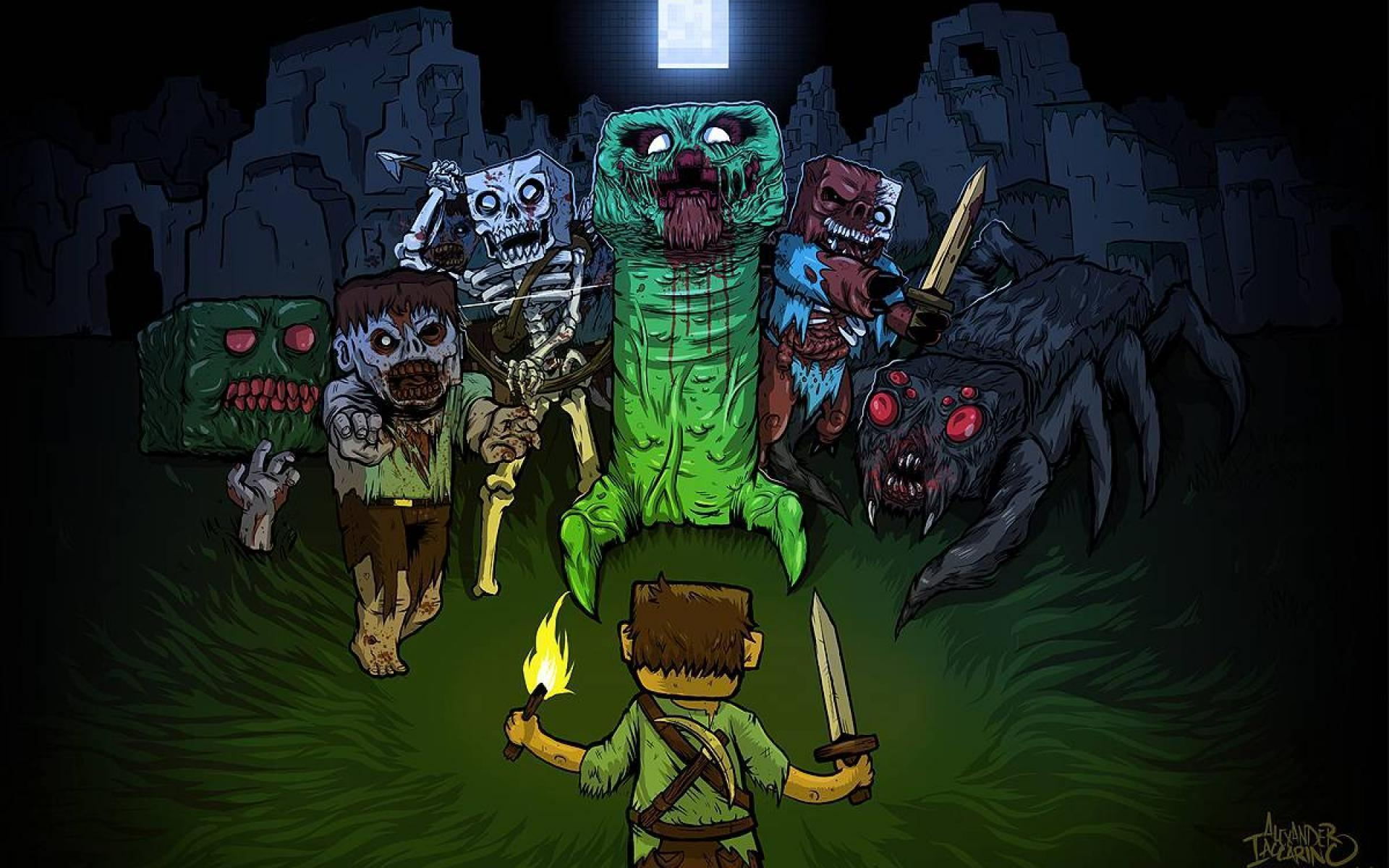 cool wallpapers of minecraft zombies - photo #3